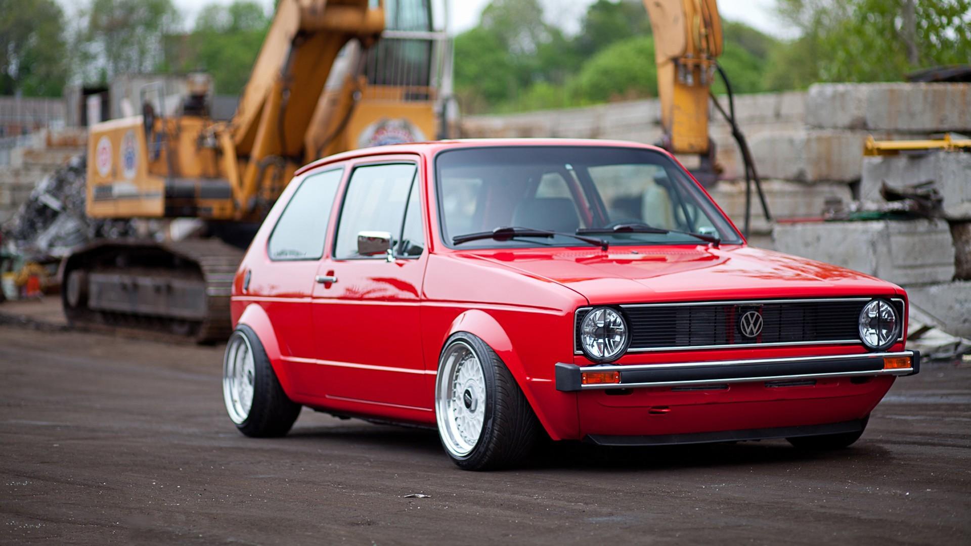Nowość Wallpaper : tuning, Volkswagen Golf Mk1, Volkswagen Golf Mk2 JD78