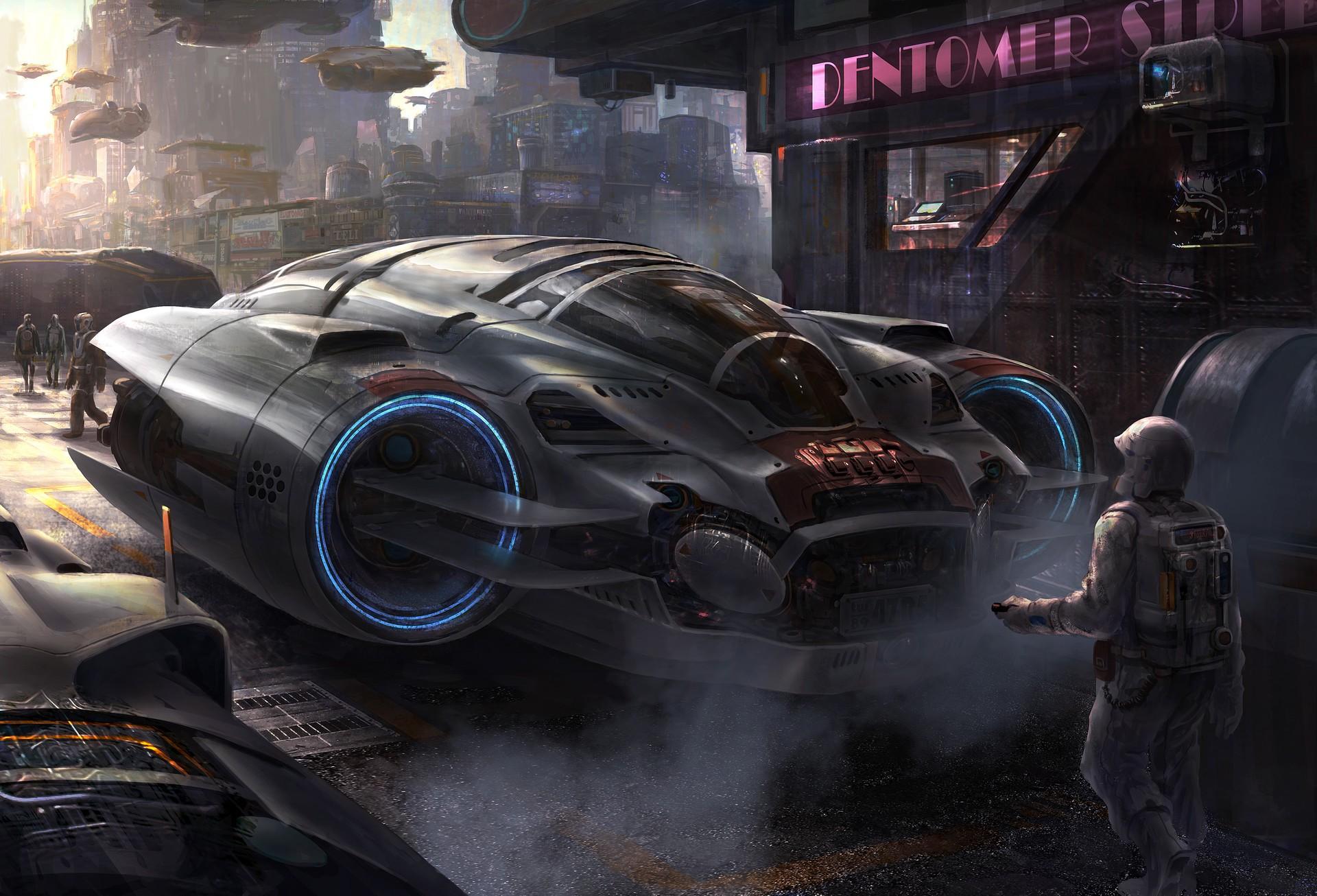 Wallpaper : vehicle, artwork, science fiction, concept art, Porsche