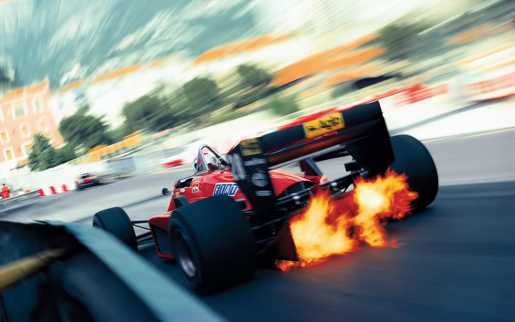 Wallpaper : Blurred, Vintage, Formula 1, Sports Car, Ferrari, Driving,  Performance Car, Screenshot, Motorsport, 1680x1050 Px, Computer Wallpaper,  ...