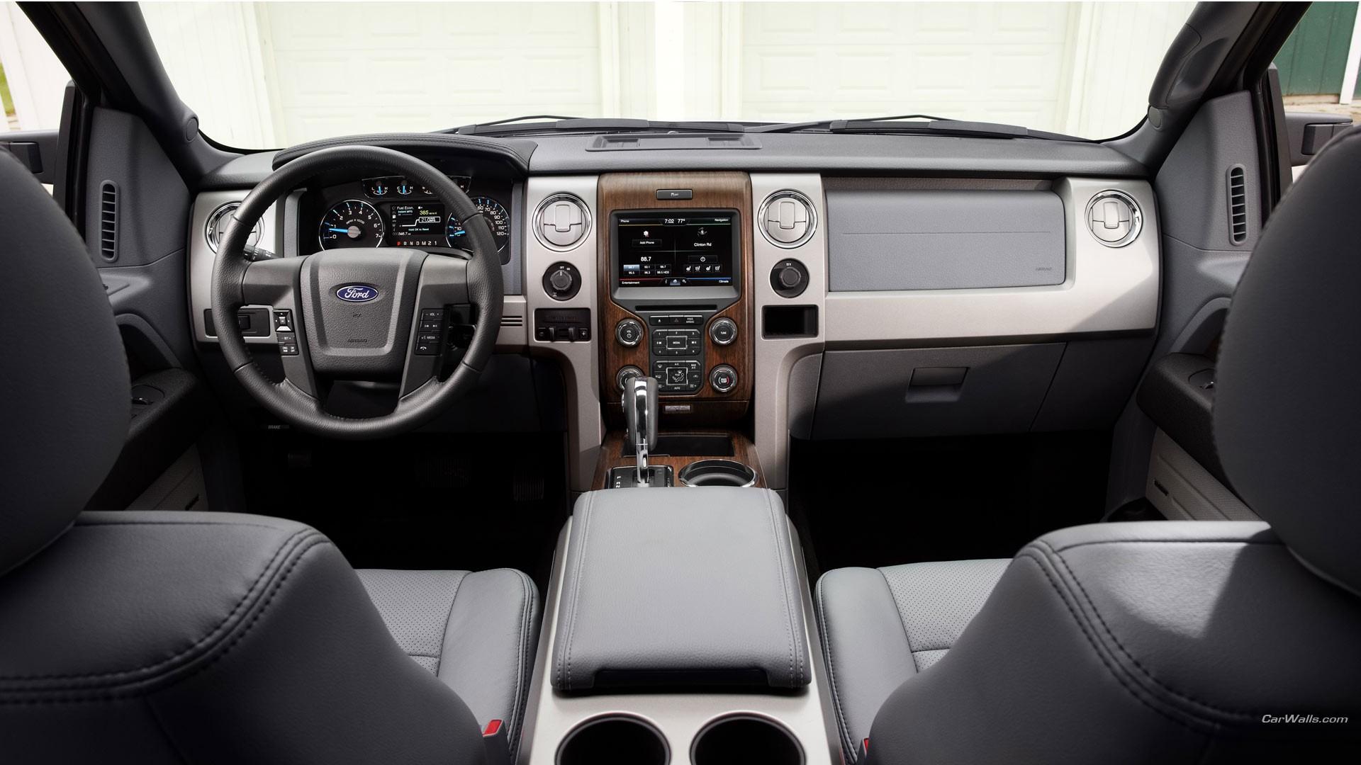 Fond d 39 cran v hicule int rieur de voiture ford f 150 for Interieur de voiture de luxe