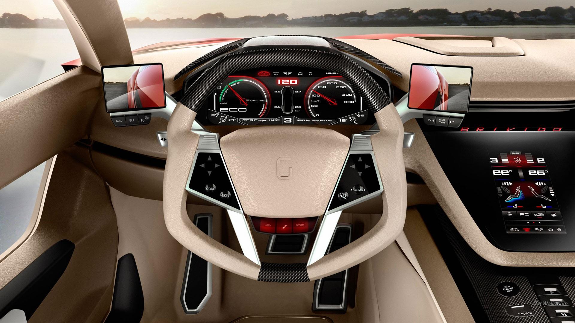sfondi interni auto super car auto sportiva macchina di spettacolo volante italdesign. Black Bedroom Furniture Sets. Home Design Ideas