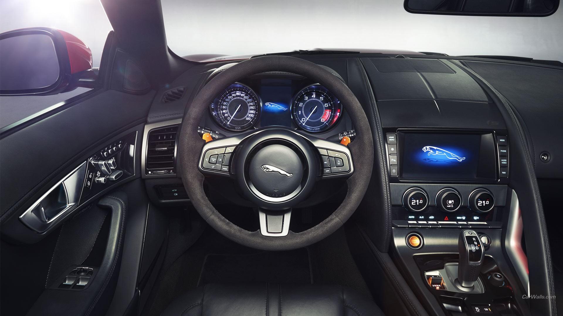 Car Vehicle Car Interior Sports Car Jaguar Car Jaguar F Type Steering Wheel  Sedan Wheel Rim
