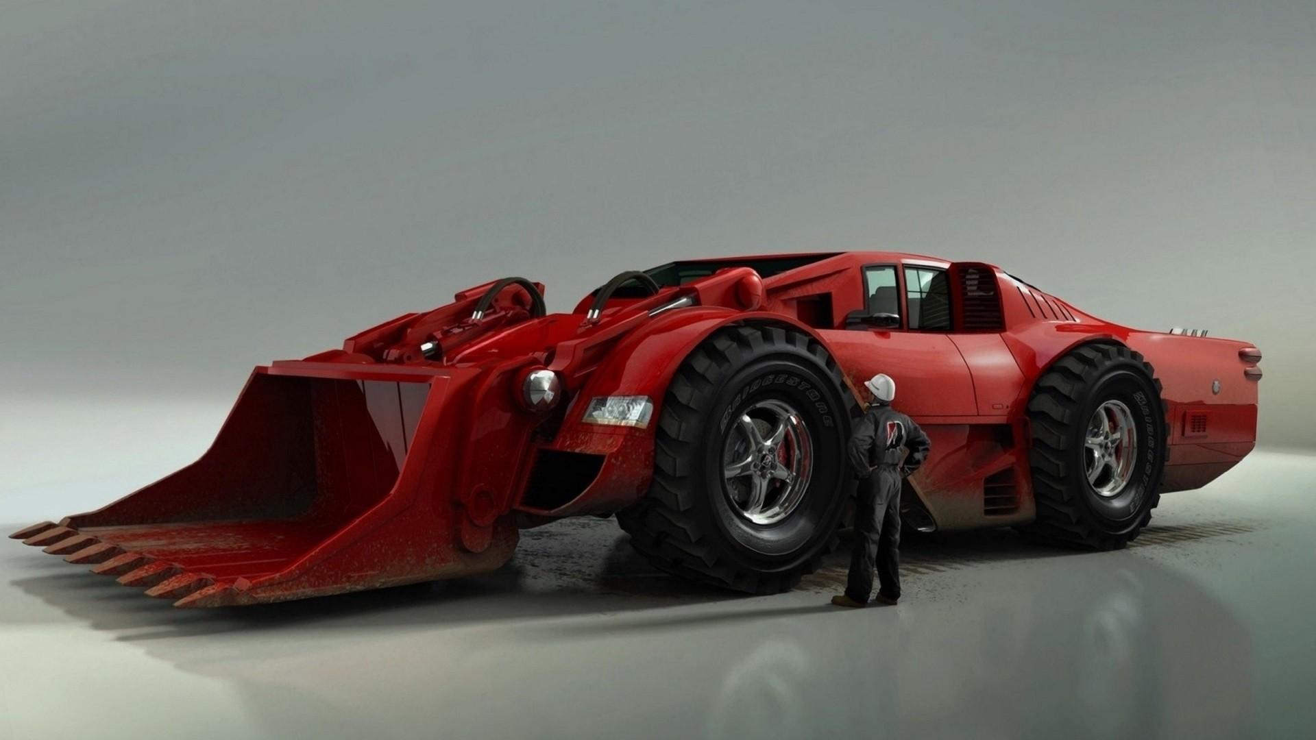 Wallpaper  concept art, sports car, ferrari wehicle