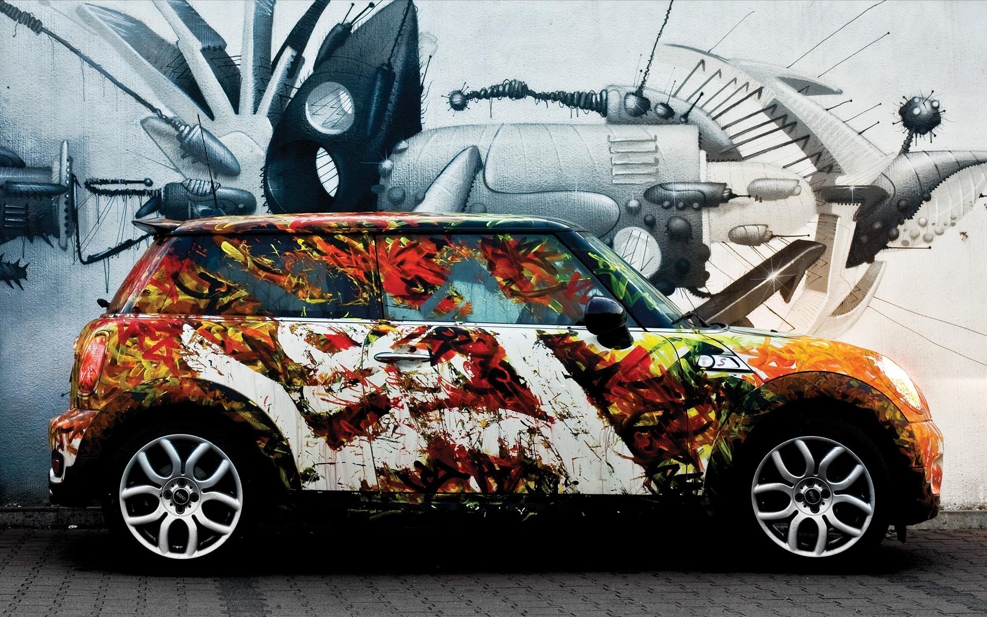 Граффити картинки машины