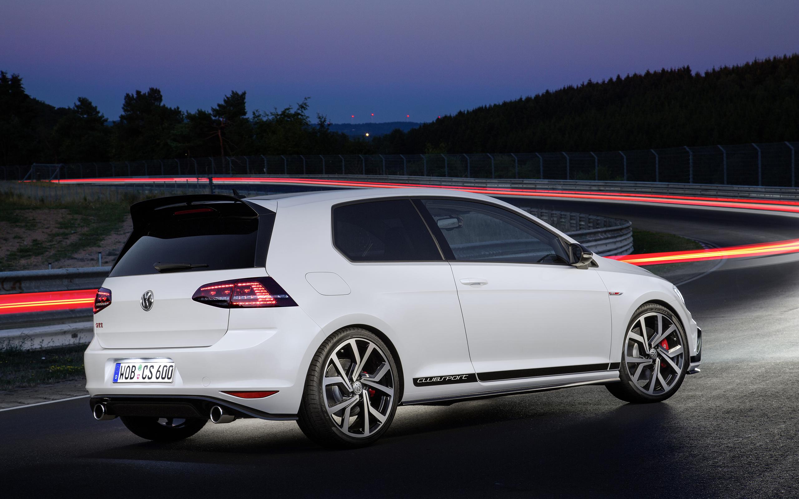 Wallpaper Long Exposure Race Tracks Volkswagen Golf