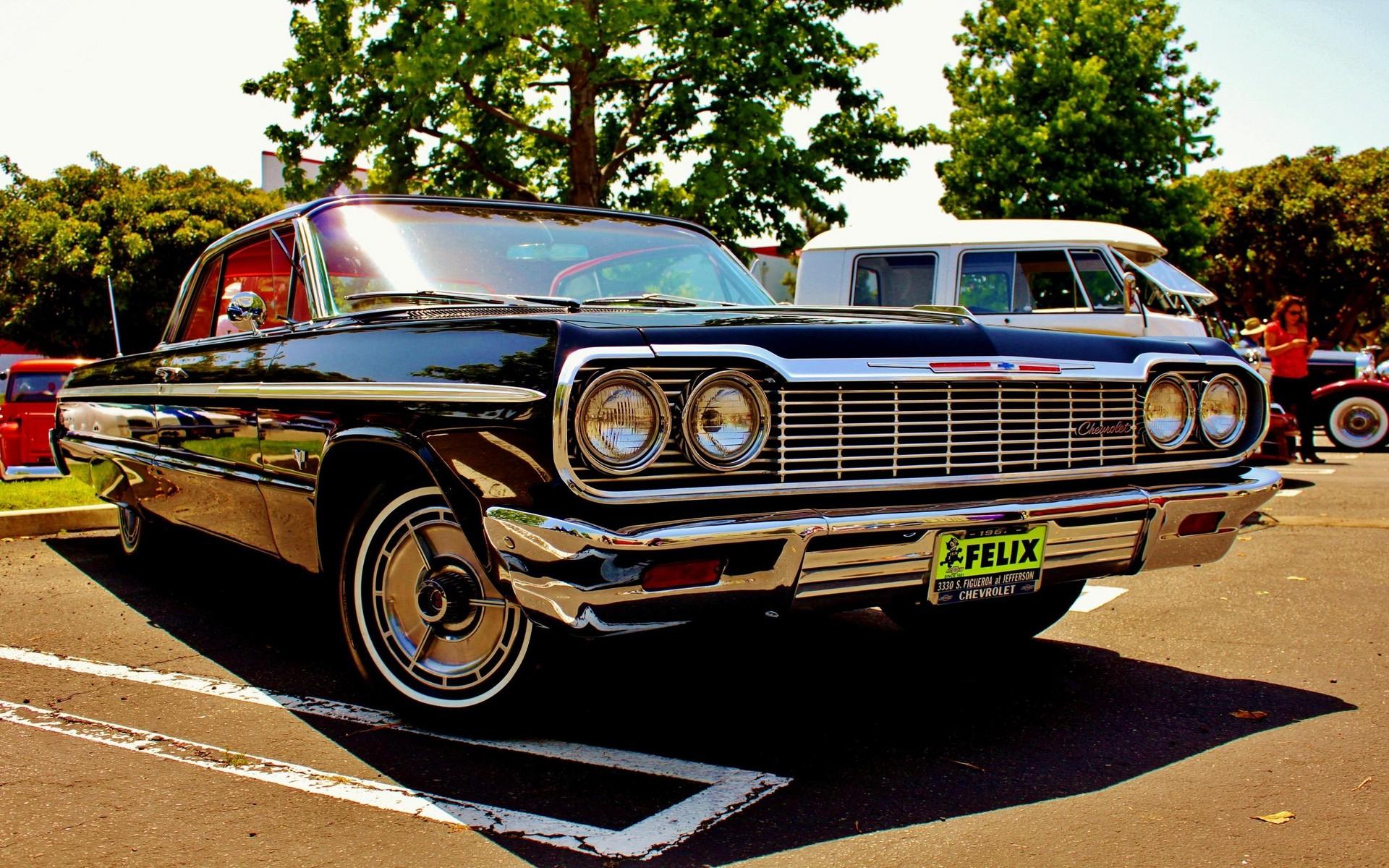 Wallpaper : old car, Oldtimer, Chevrolet Impala, Sedan, land vehicle