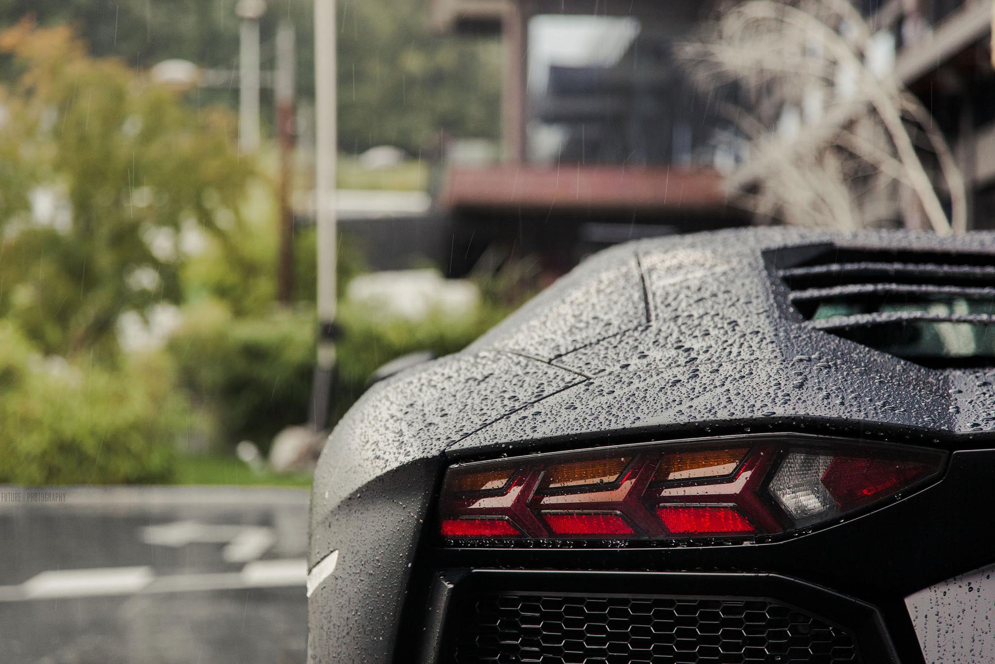 Gentil Car Vehicle Rain Lamborghini Lamborghini Aventador Black Cars Super Car  Sports Car Performance Car Wheel Supercar