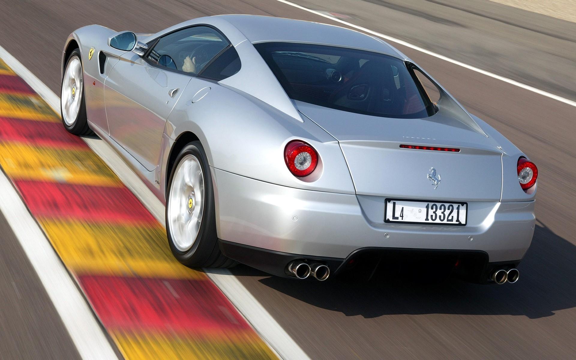 Wallpaper Rear View Sports Car Gray Performance Car Ferrari