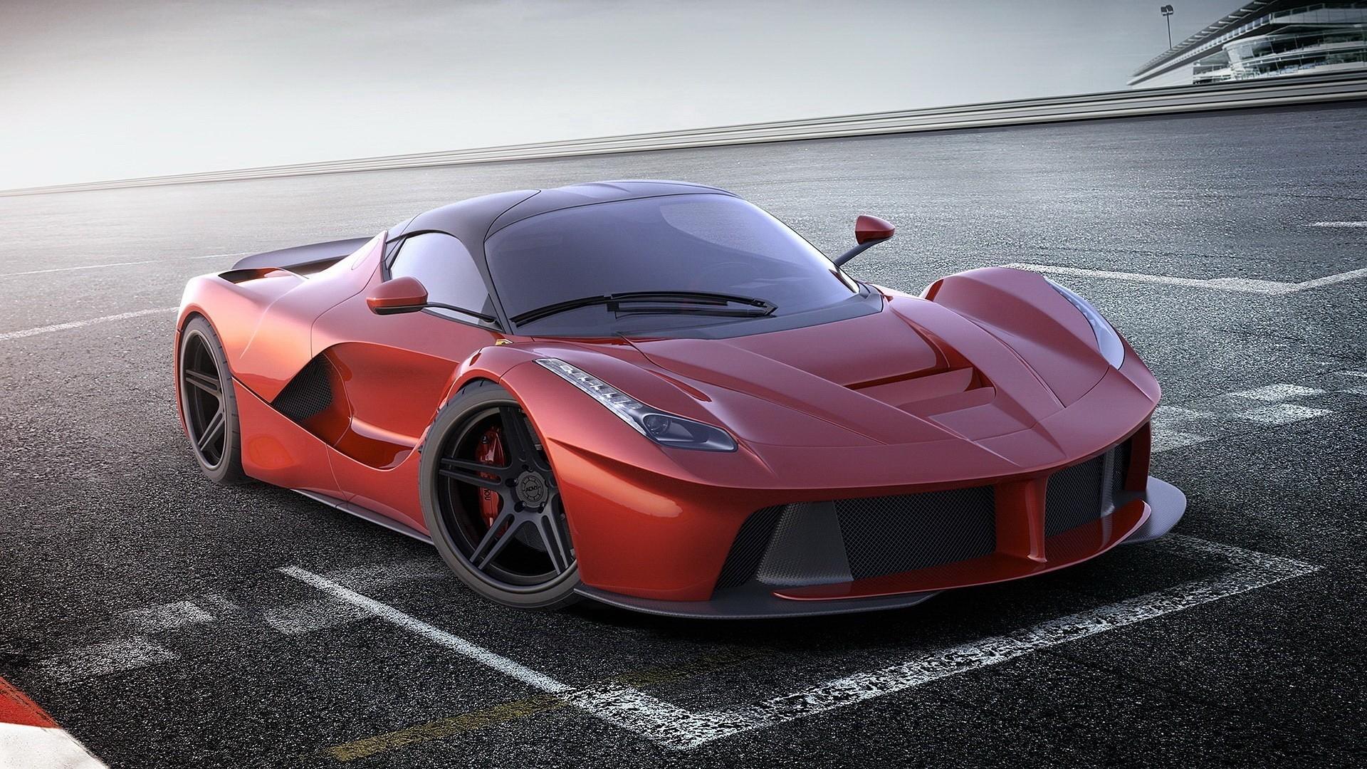 Wallpaper : red cars, sports car, Ferrari LaFerrari ...