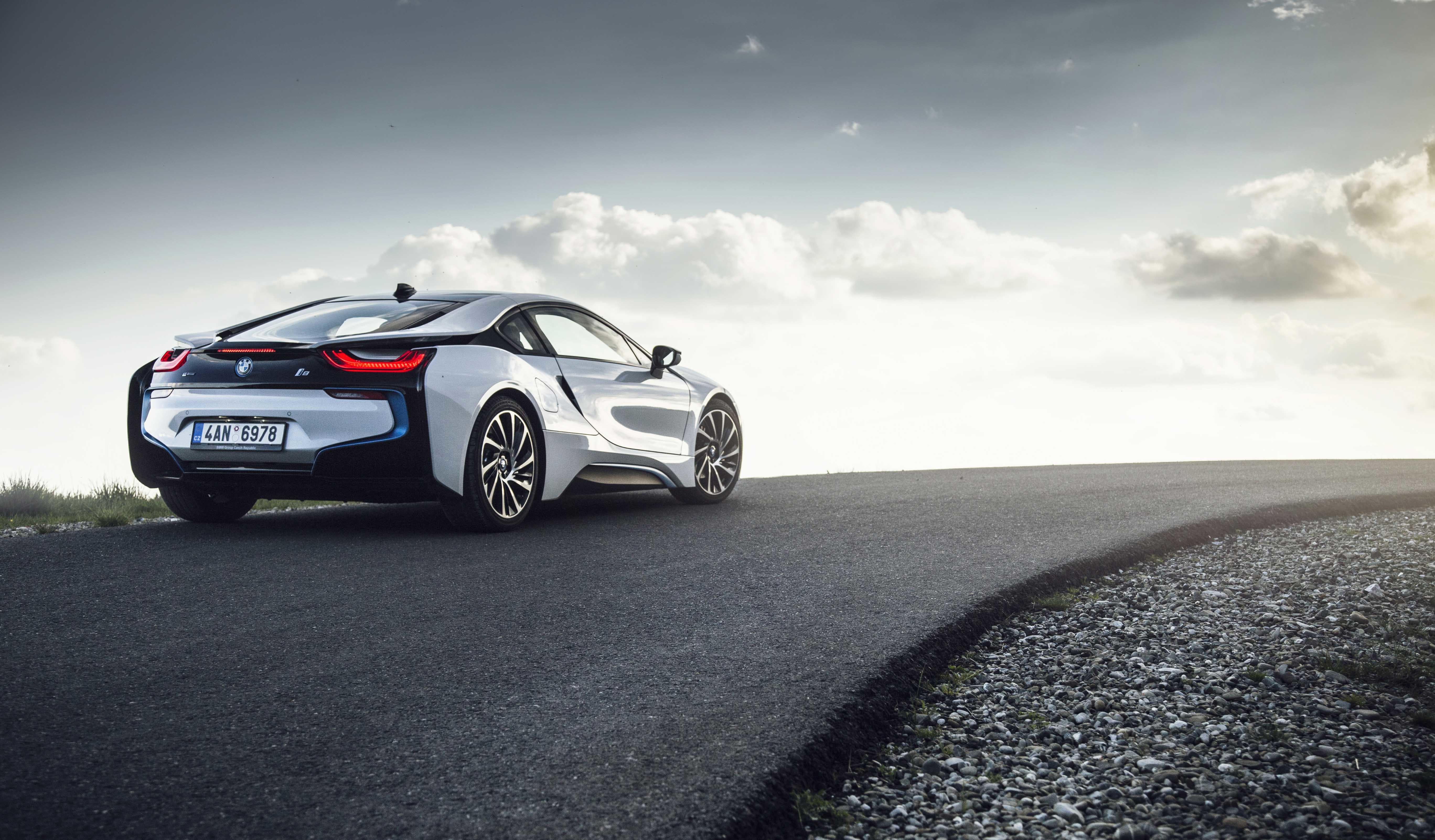 Wallpaper : Road, BMW I8, Rear View, Sports Car, Porsche
