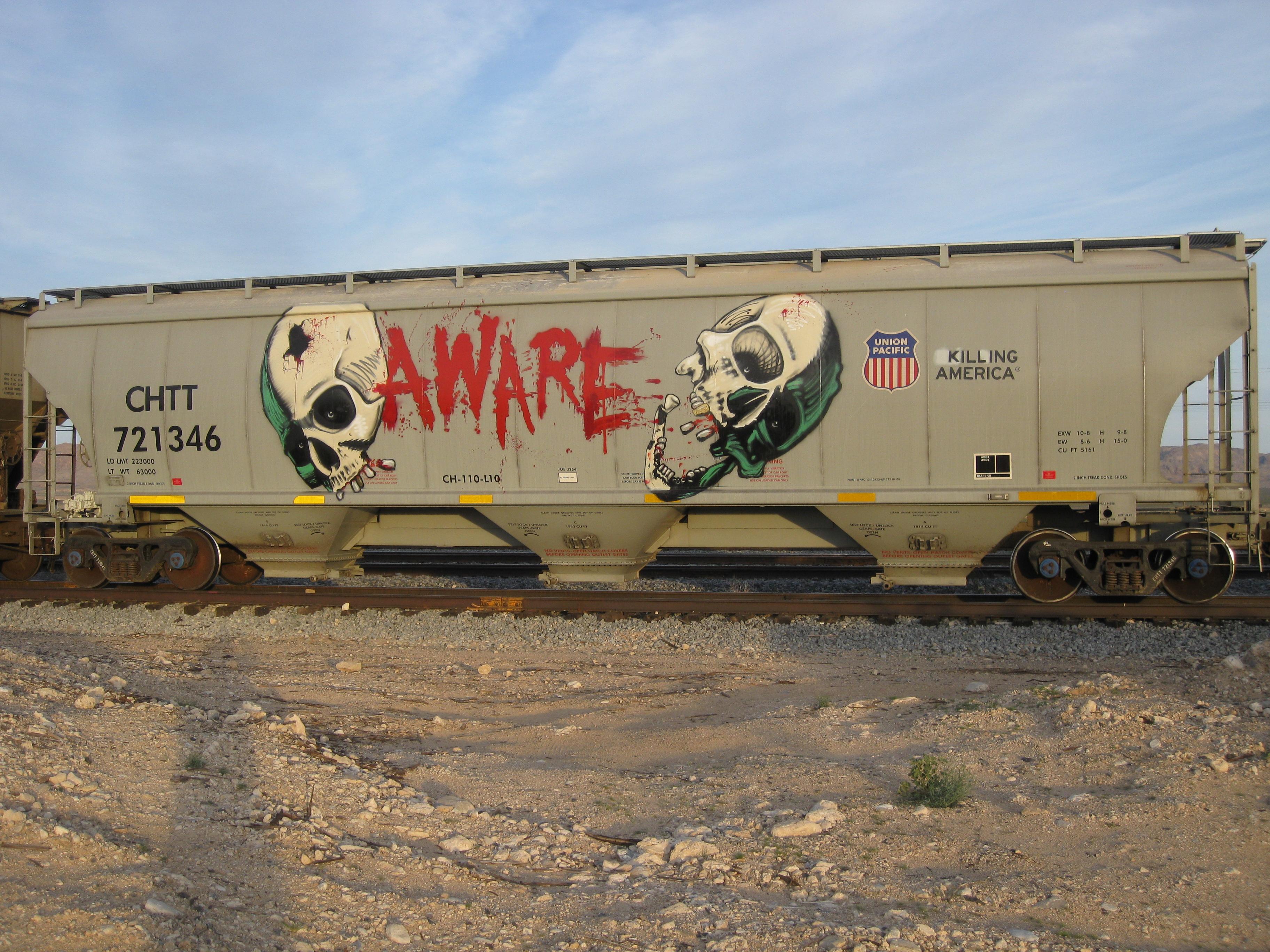Masaustu Araba Arac Yol Tren Kan Kafatasi Duvar Yazisi