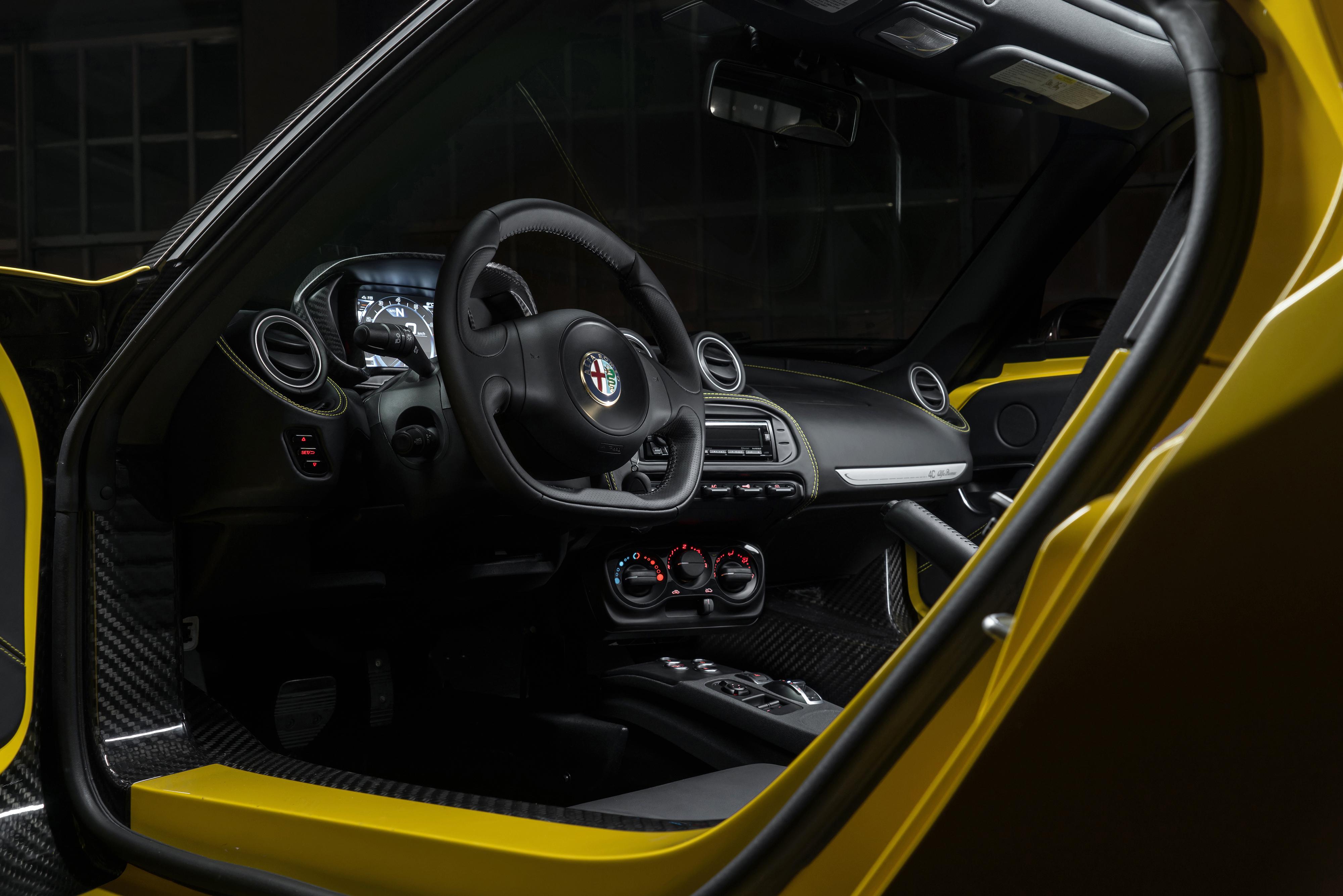 Wallpaper Sports Car Alfa Romeo Steering Wheel Netcarshow Vehicle Netcar Images Photo 2017 4c