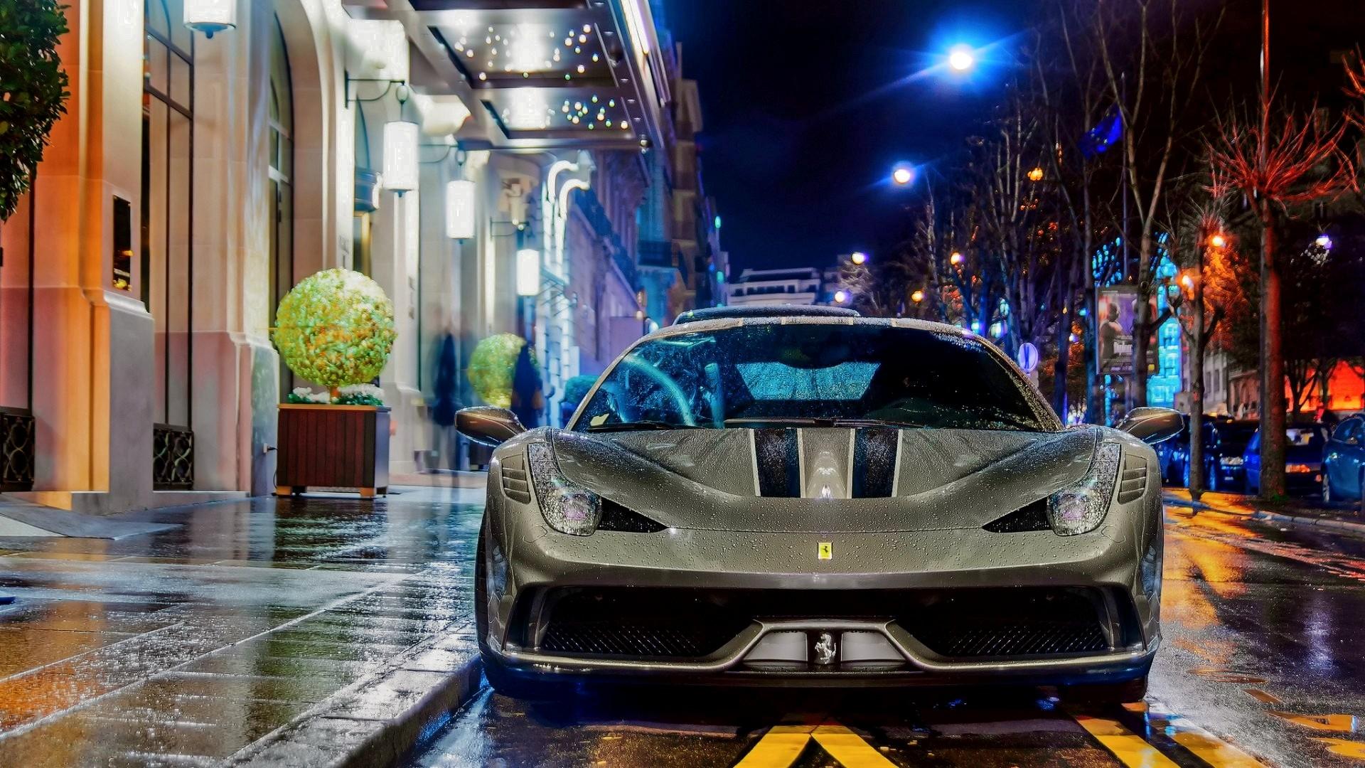 Wallpaper Sports Car Ferrari 458 Speciale Coupe
