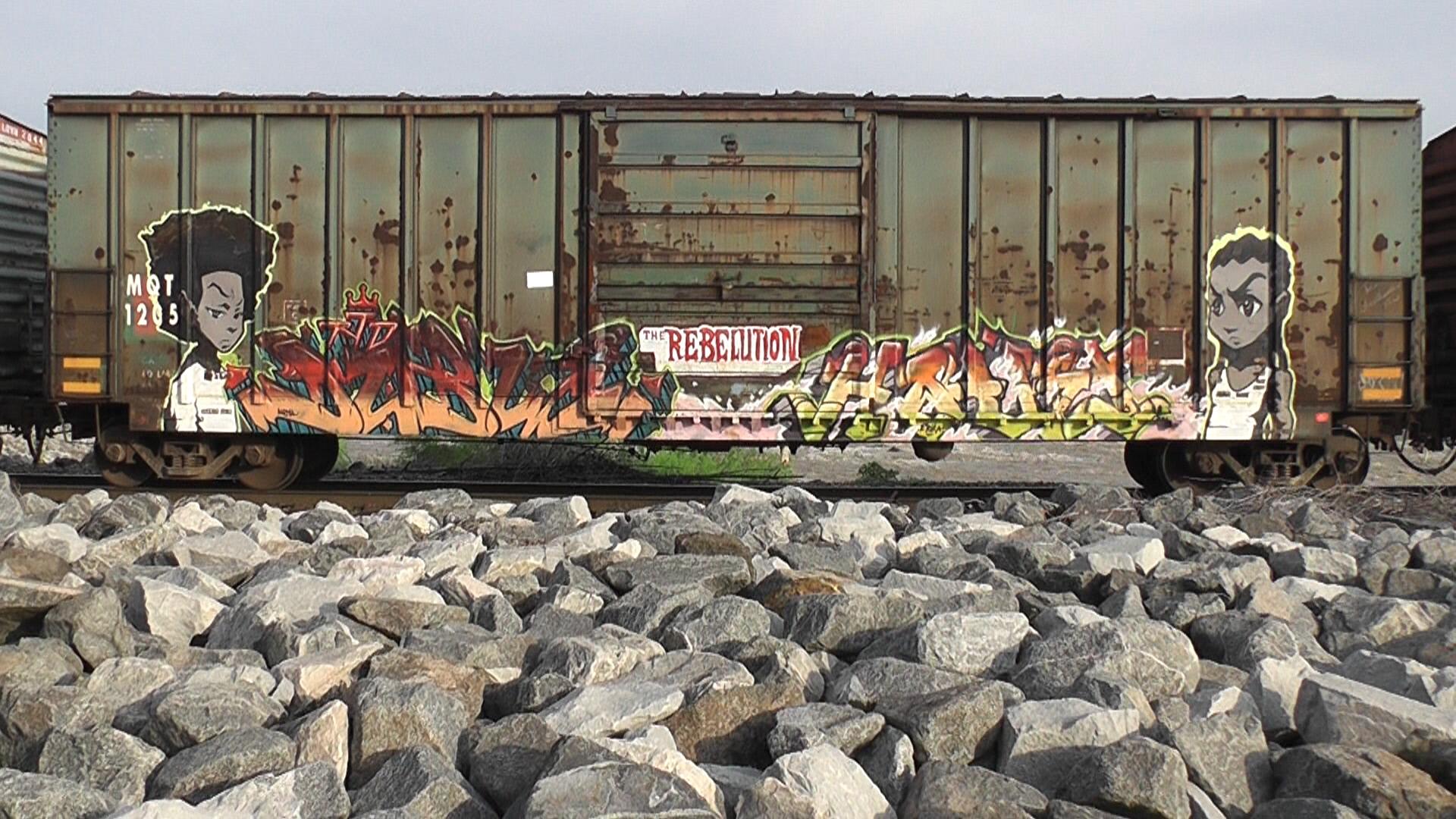 Wallpaper Train Cartoon Metal Graffiti Street Art Cargo Pov