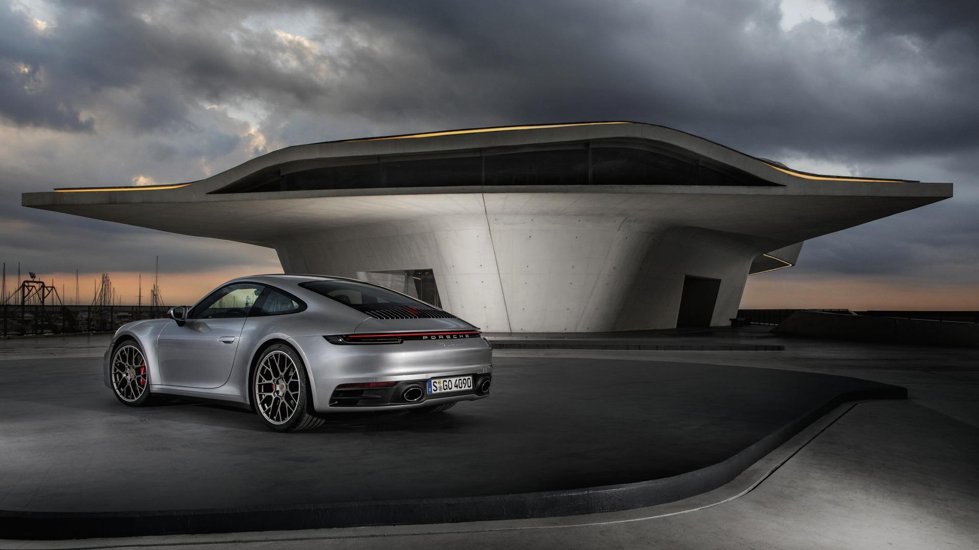 Wallpaper Vehicle Urban Porsche 911 Carrera Clouds Sports Car 2020 Year Architecture Futuristic Building 1920x1080 Andrev321 1552907 Hd Wallpapers Wallhere
