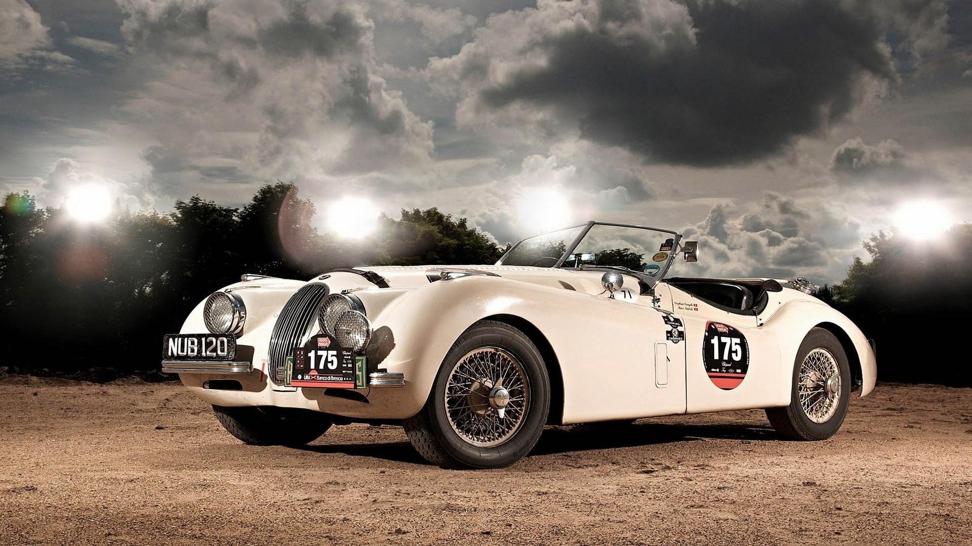 fond d 39 cran cru voiture de sport marque voiture ancienne voiture classique jaguar xk120. Black Bedroom Furniture Sets. Home Design Ideas