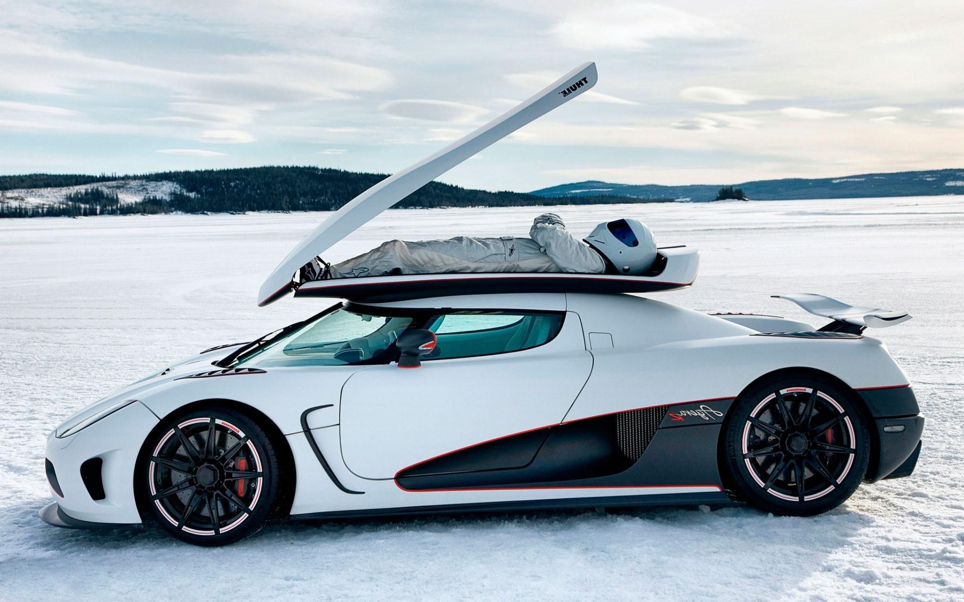 Wallpaper : winter, sports car, Koenigsegg Agera R ...
