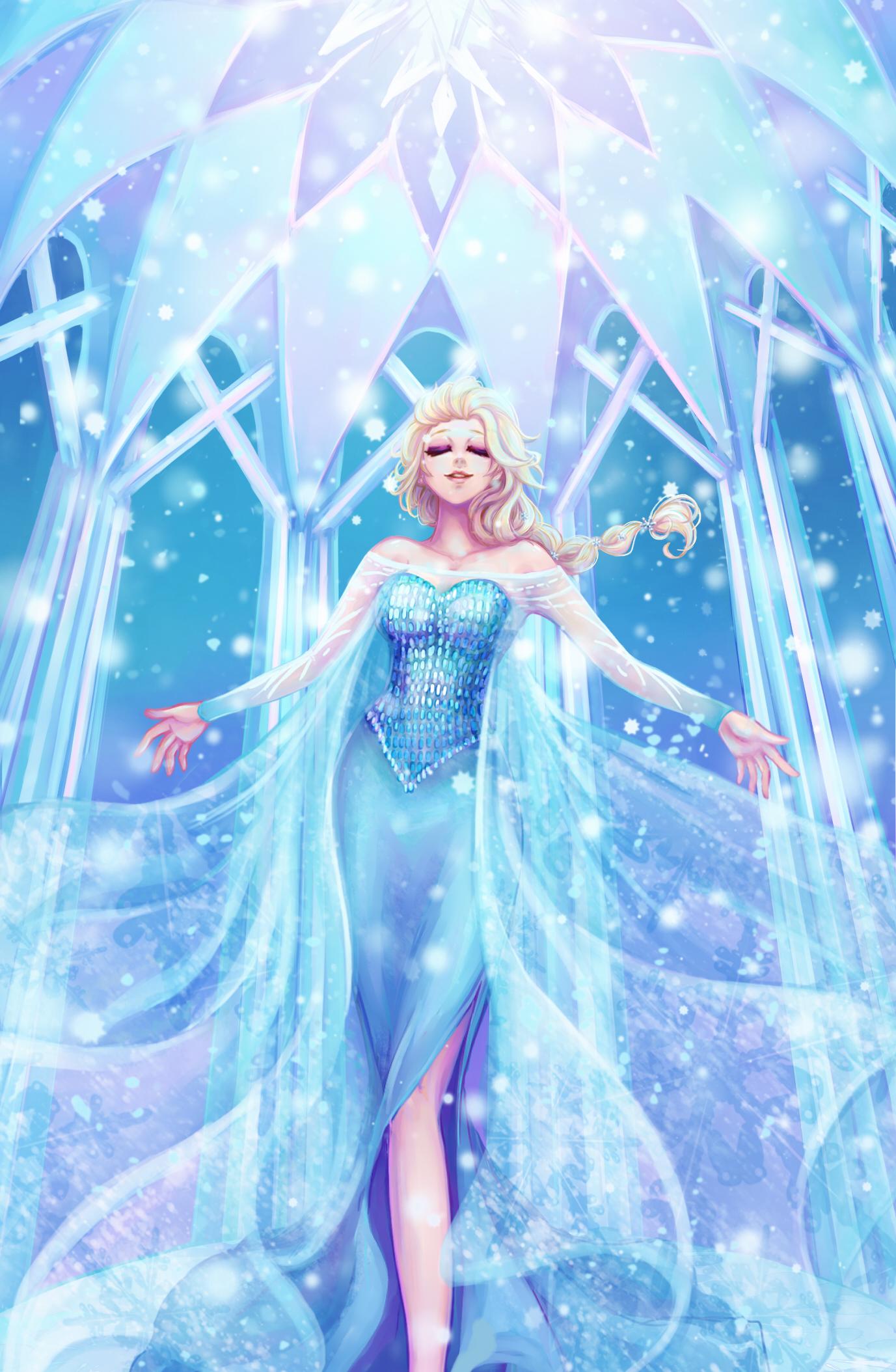 Wallpaper Gambar Kartun Film Beku Putri Elsa Karya