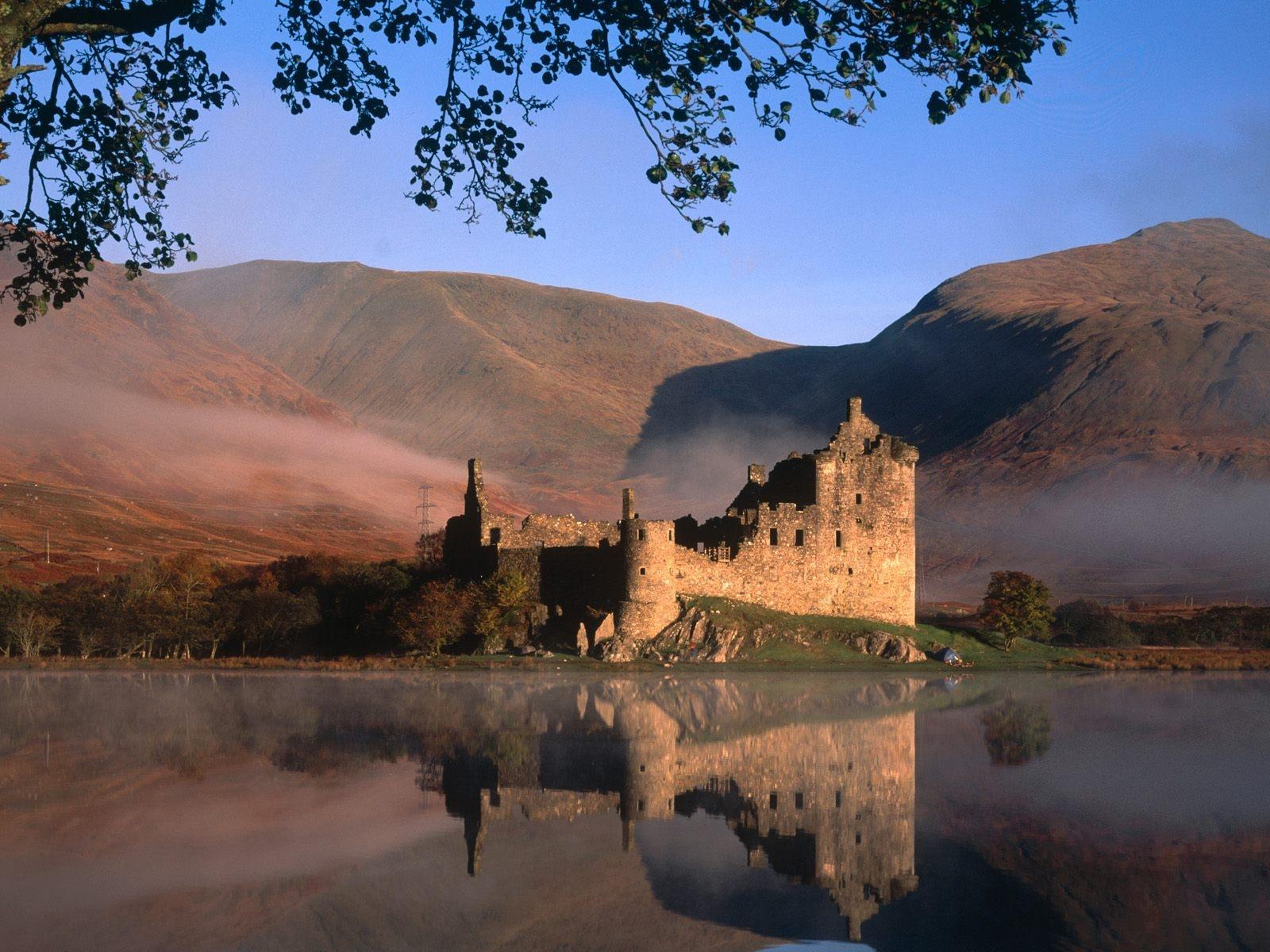 Обои замок, холм, эдинбург, edinburgh, Шотландия. Пейзажи foto 12