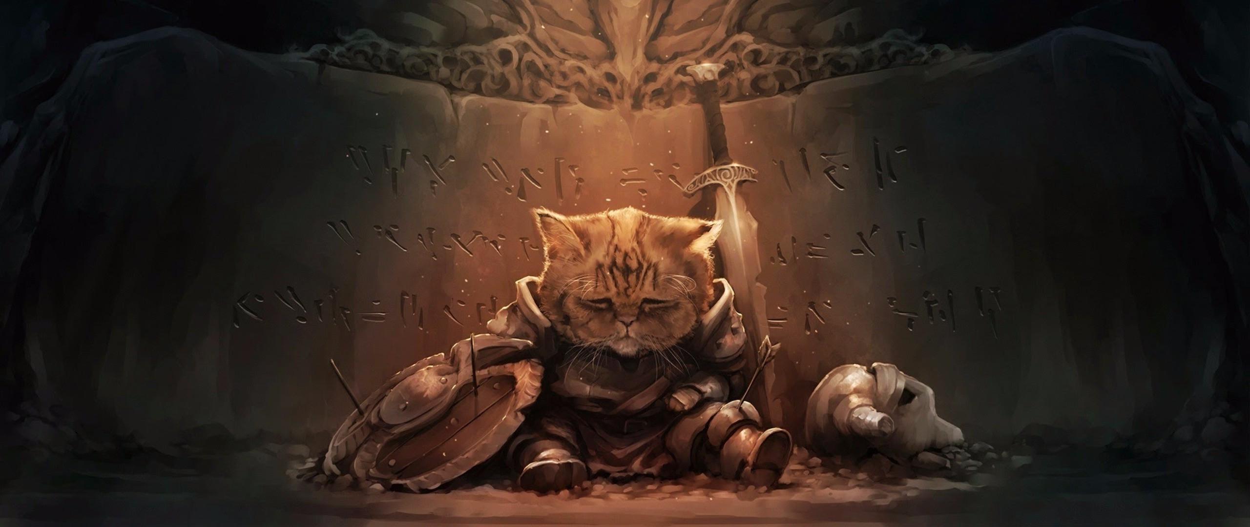 Wallpaper Cat The Elder Scrolls V Skyrim Mythology Art