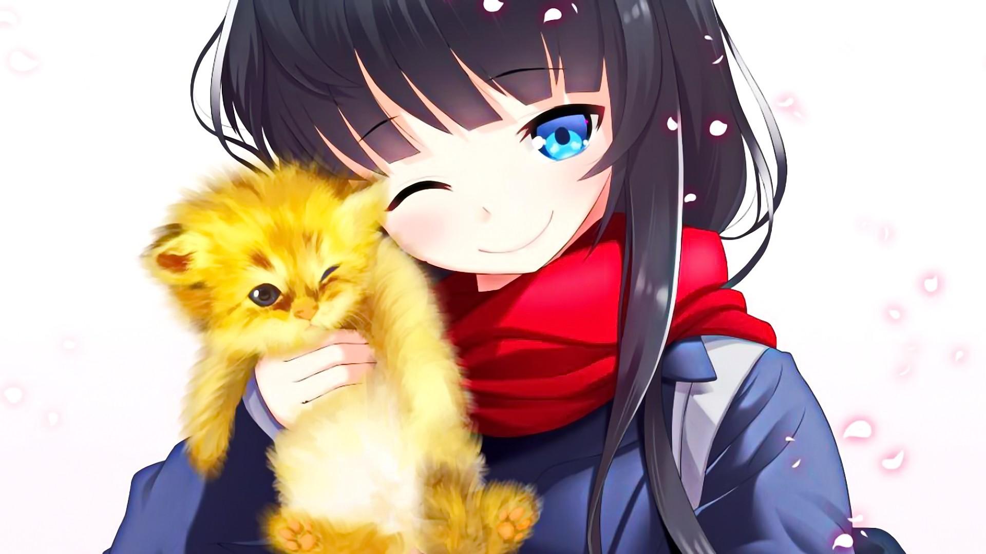 Картинки котов и кошек аниме