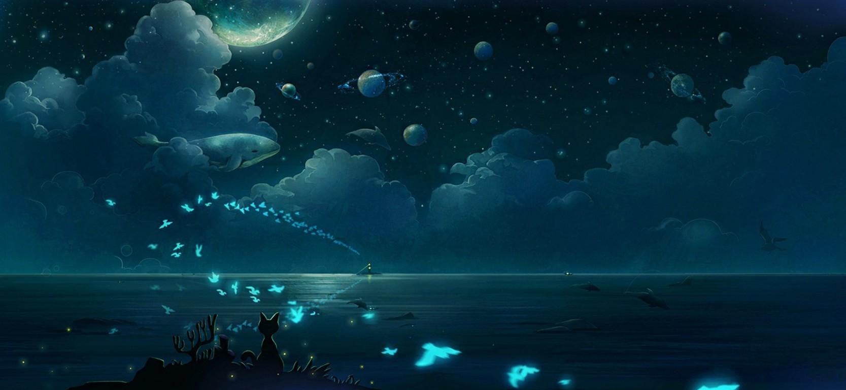 Popular Wallpaper Cat Butterfly - cat-birds-animals-night-planet-clouds-fish-butterfly-underwater-moonlight-whale-ocean-screenshot-computer-wallpaper-outer-space-marine-biology-1667x768-px-519688  Pictures_569312 .jpg