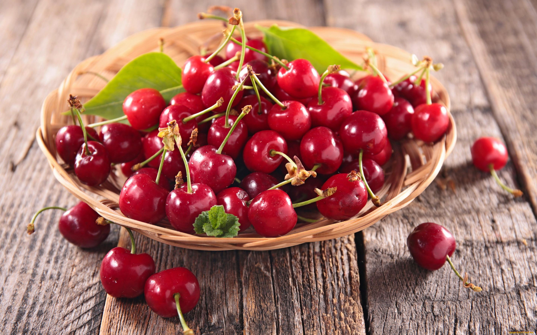 cherries fruit food wooden surface 1600805