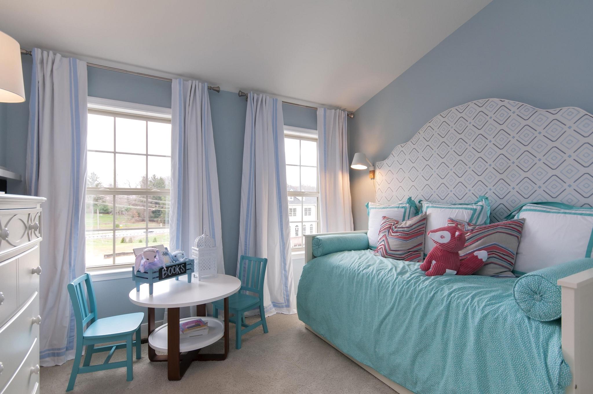 Baggrunde : børn, værelse, interiør, blå, soveværelse, Indretning ...
