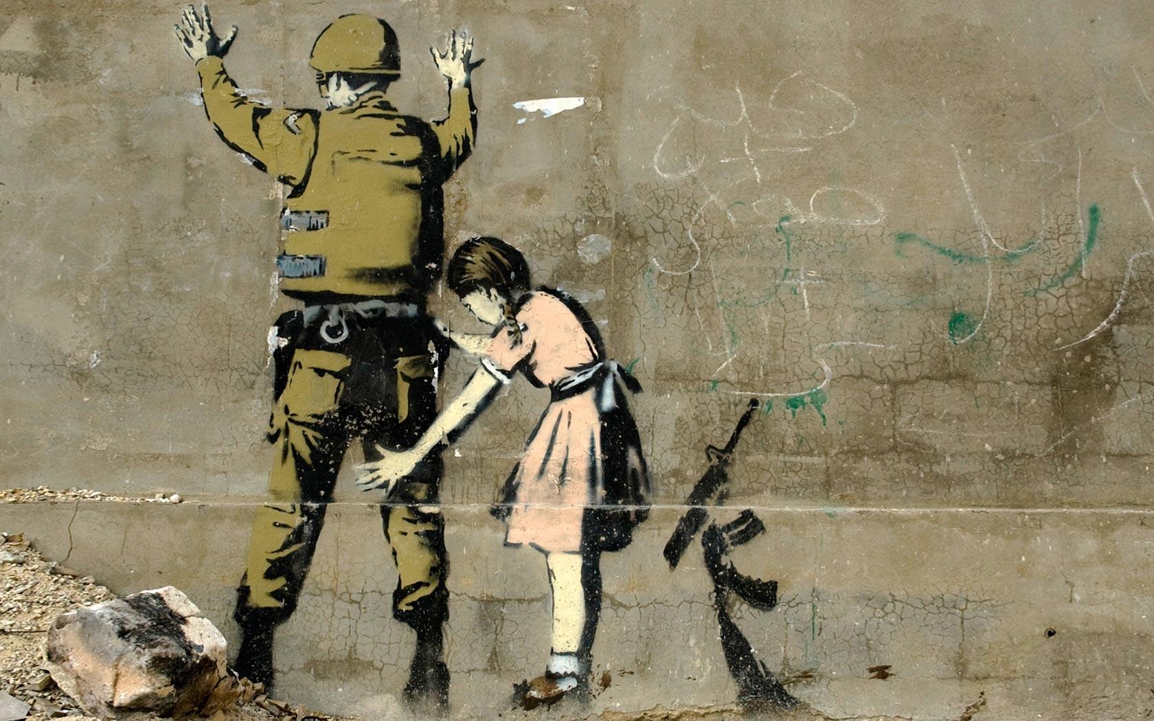 Children Wall Graffiti Street Art Banksy ART