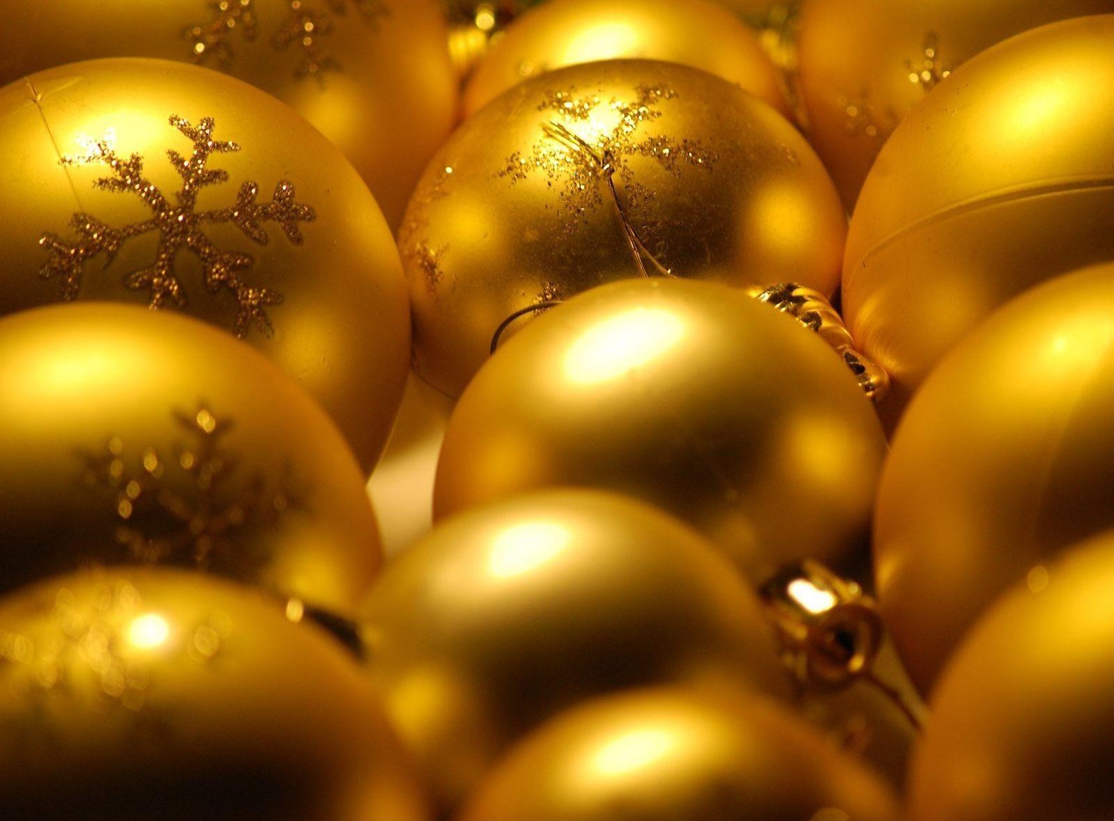 Sfondi Natalizi Oro.Sfondi Decorazioni Natalizie Palloncini Oro Luccichio 1600x1180