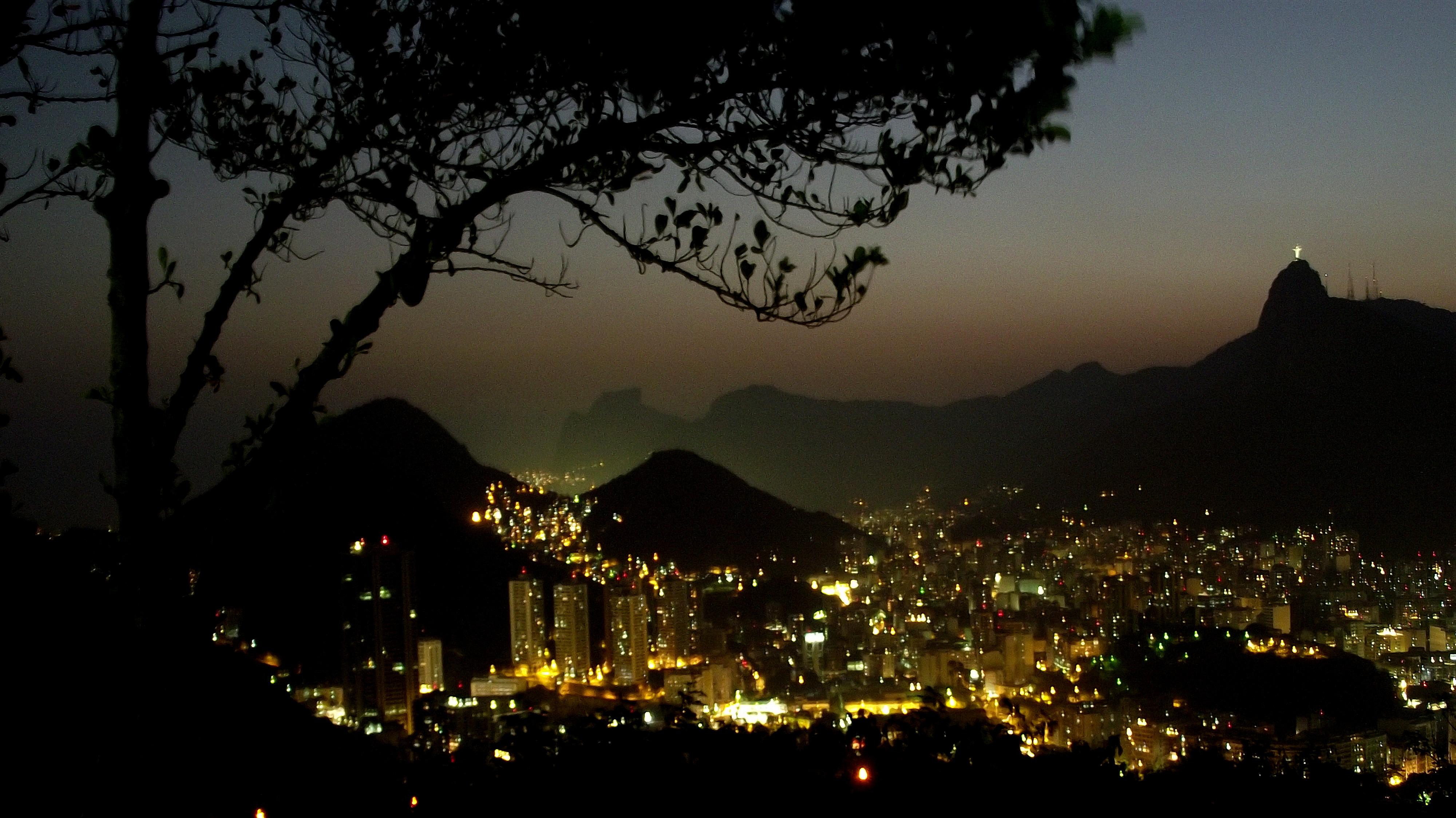 Wallpaper Cidade Brazil Brasil Riodejaneiro Night Canon