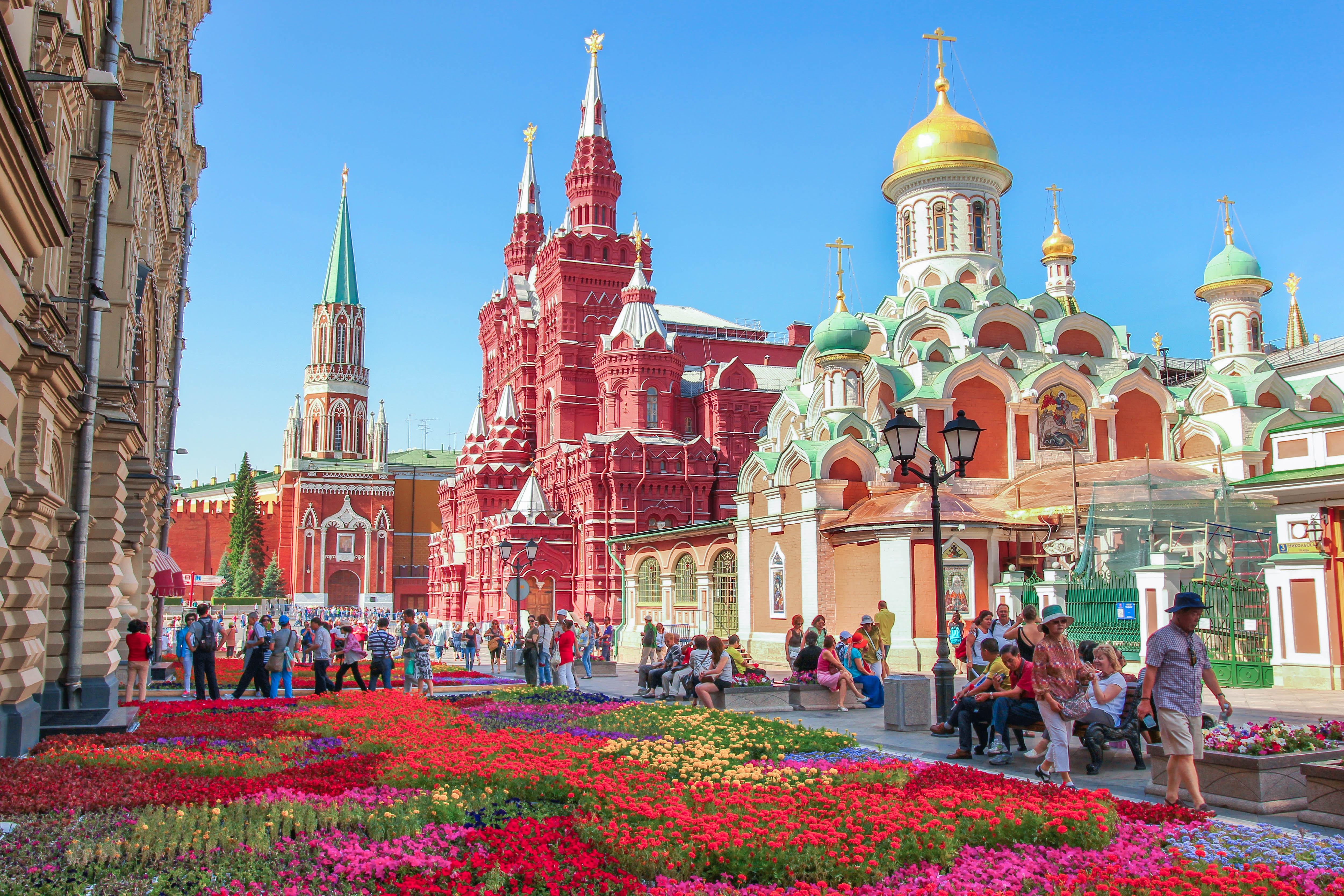 Fond d 39 cran moscou rouge tourisme carr russie glise place de la ville cath drale - Office de tourisme moscou ...