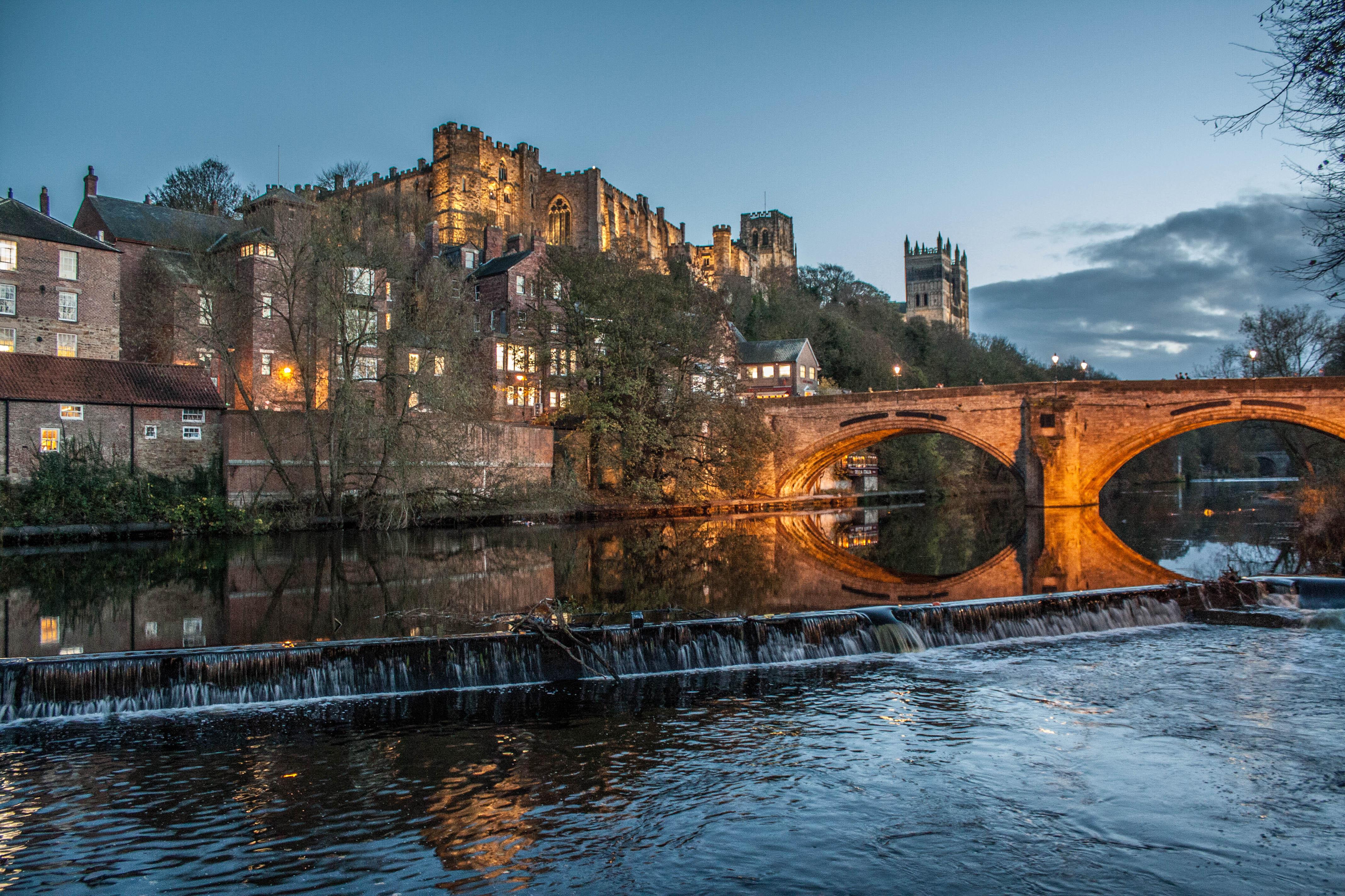 Wallpaper City Uk England Water River Cityscape Durham