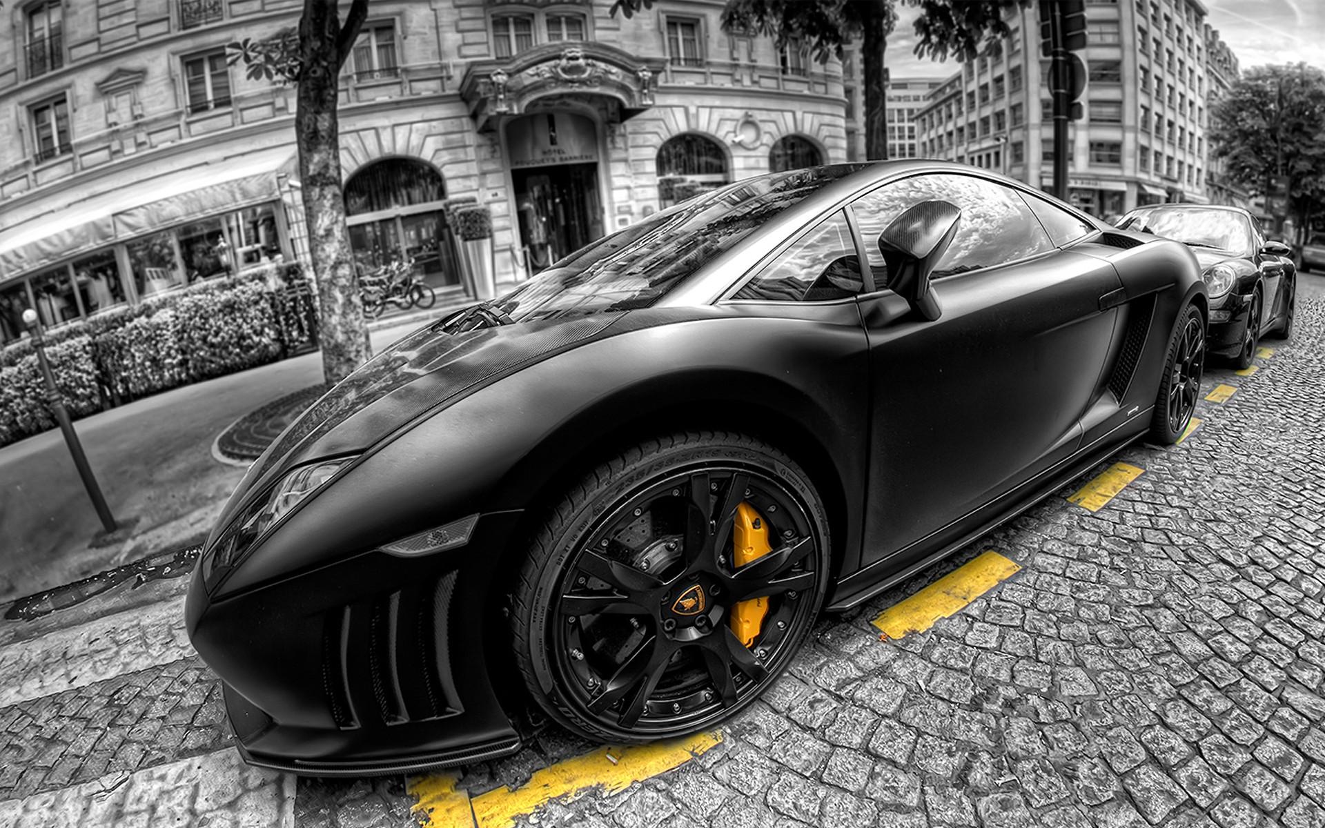 Wallpaper Kota Mewarnai Selektif Lamborghini Aventador