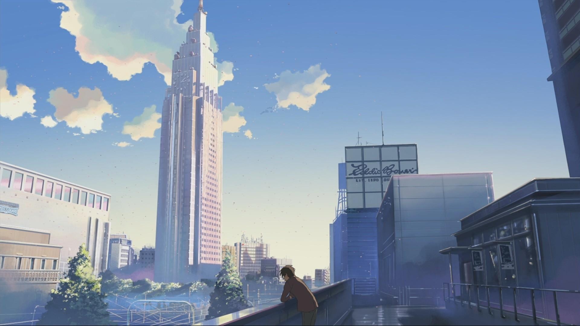 Wallpaper City Cityscape Architecture Anime Skyline