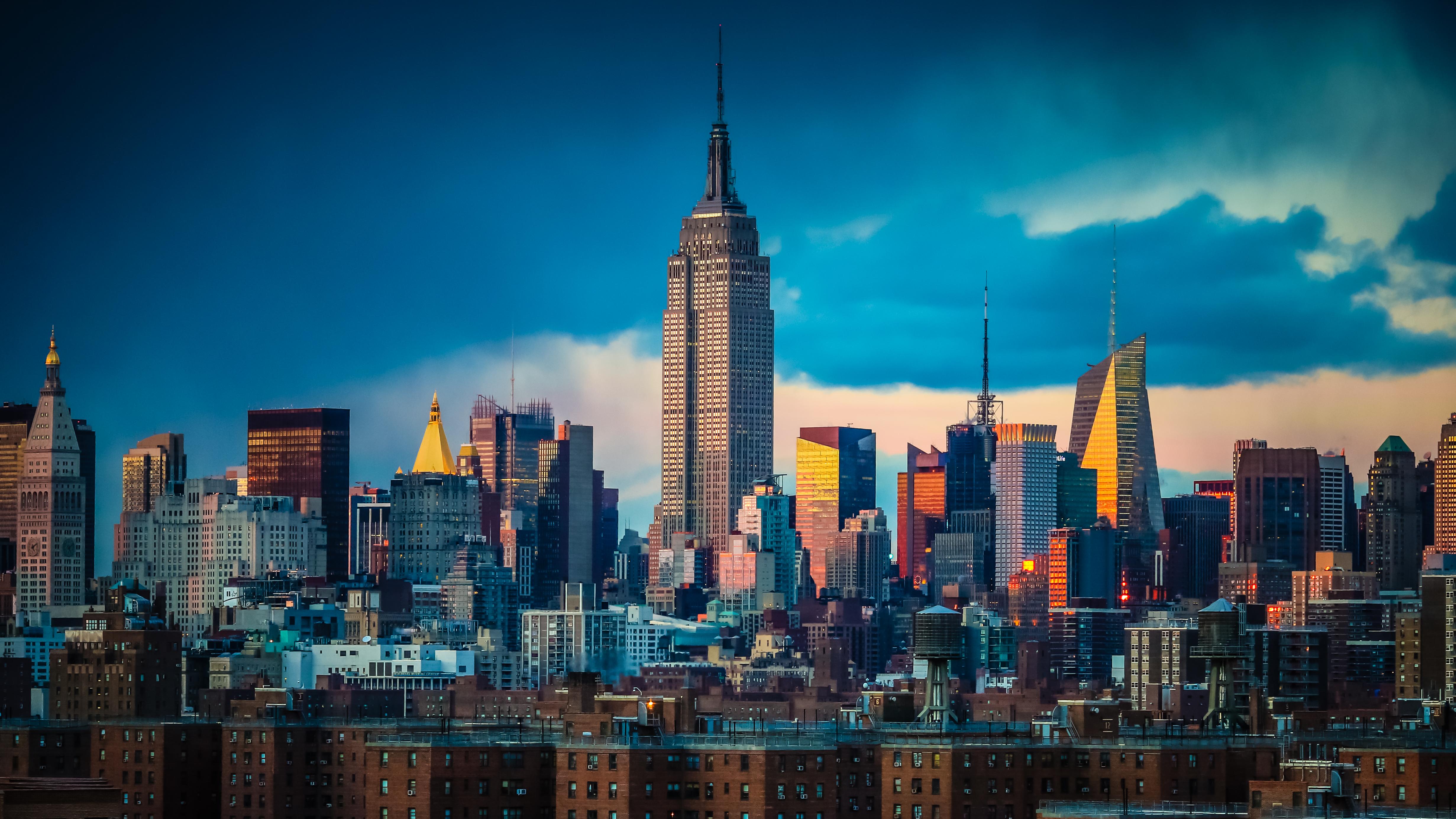 デスクトップ壁紙  シティ, 都市景観, 夜, 建築, 建物, 空