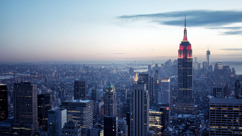 Обои горизонт, здание, new york, небоскребы. Города foto 9