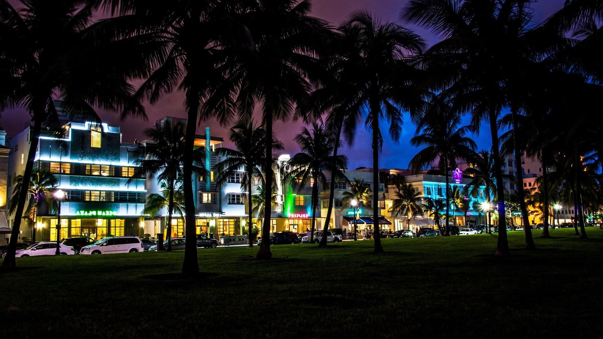 Most Inspiring Wallpaper Night Evening - city-cityscape-night-evening-palm-trees-town-dusk-Miami-Florida-South-Beach-light-downtown-lighting-1920x1080-px-urban-area-human-settlement-517906  Photograph-526048.jpg