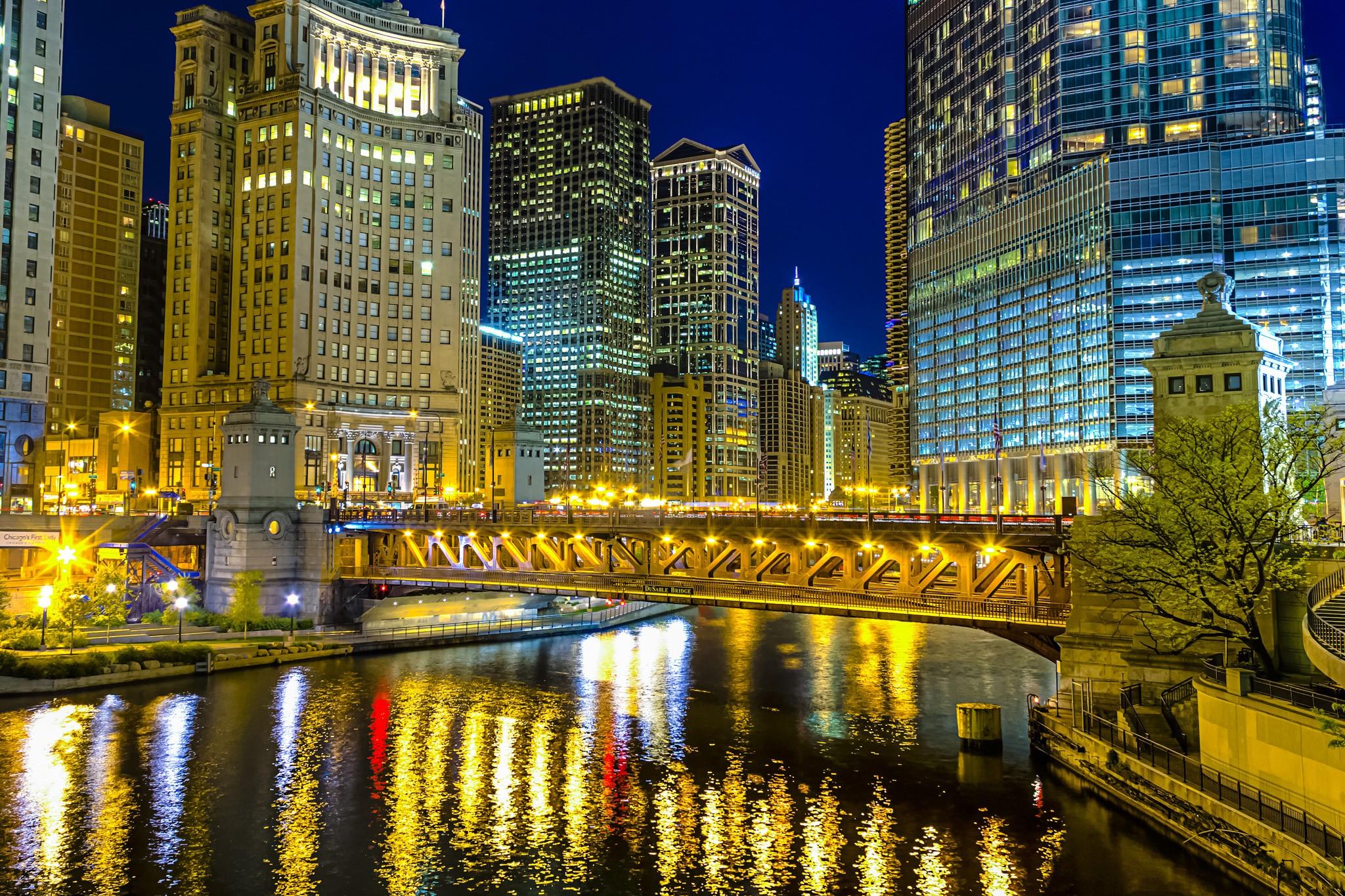 Обои высотки, чикаго, chicago, небоскребы, center. Города foto 17