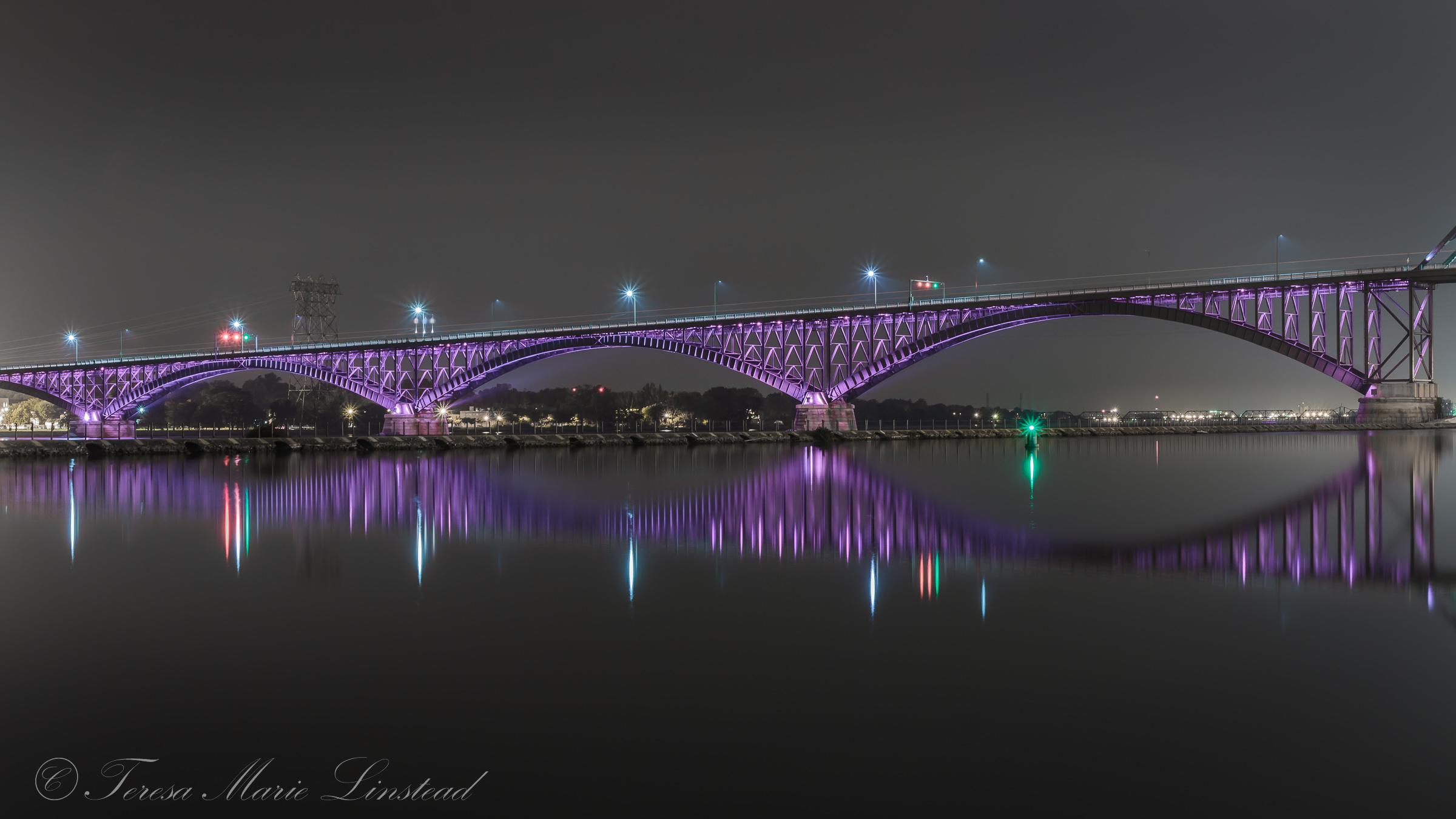 City Cityscape Night Water Reflection Sky Purple Evening Bridge Metropolis Buffalo Structure Light Longexposure Telephoto Reflections