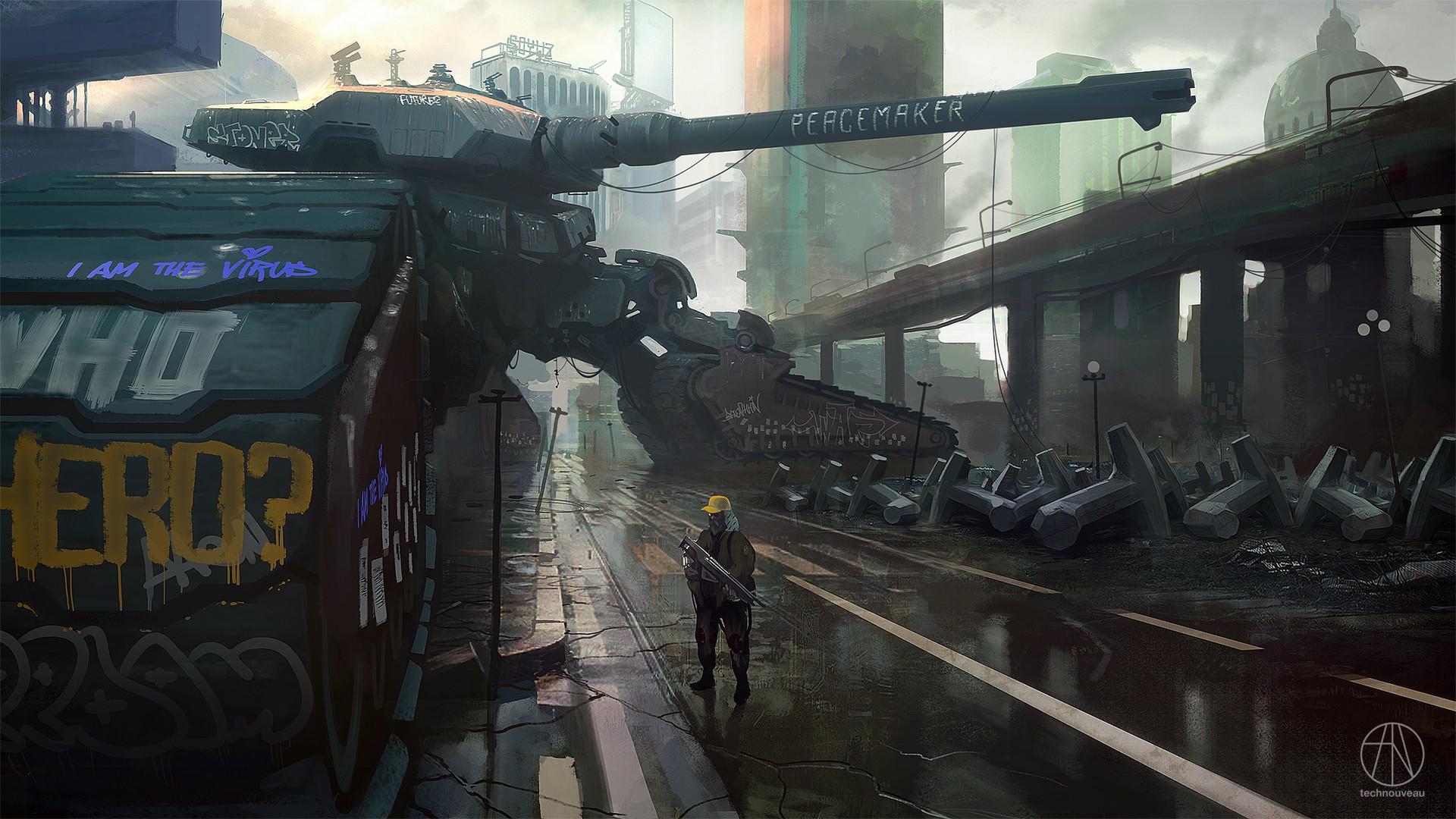 Wallpaper City Futuristic Weapon Artwork Soldier Tank Science Fiction Concept Art Graffiti Games Screenshot Pc Game 1920x1080 85175 Hd Wallpapers Wallhere