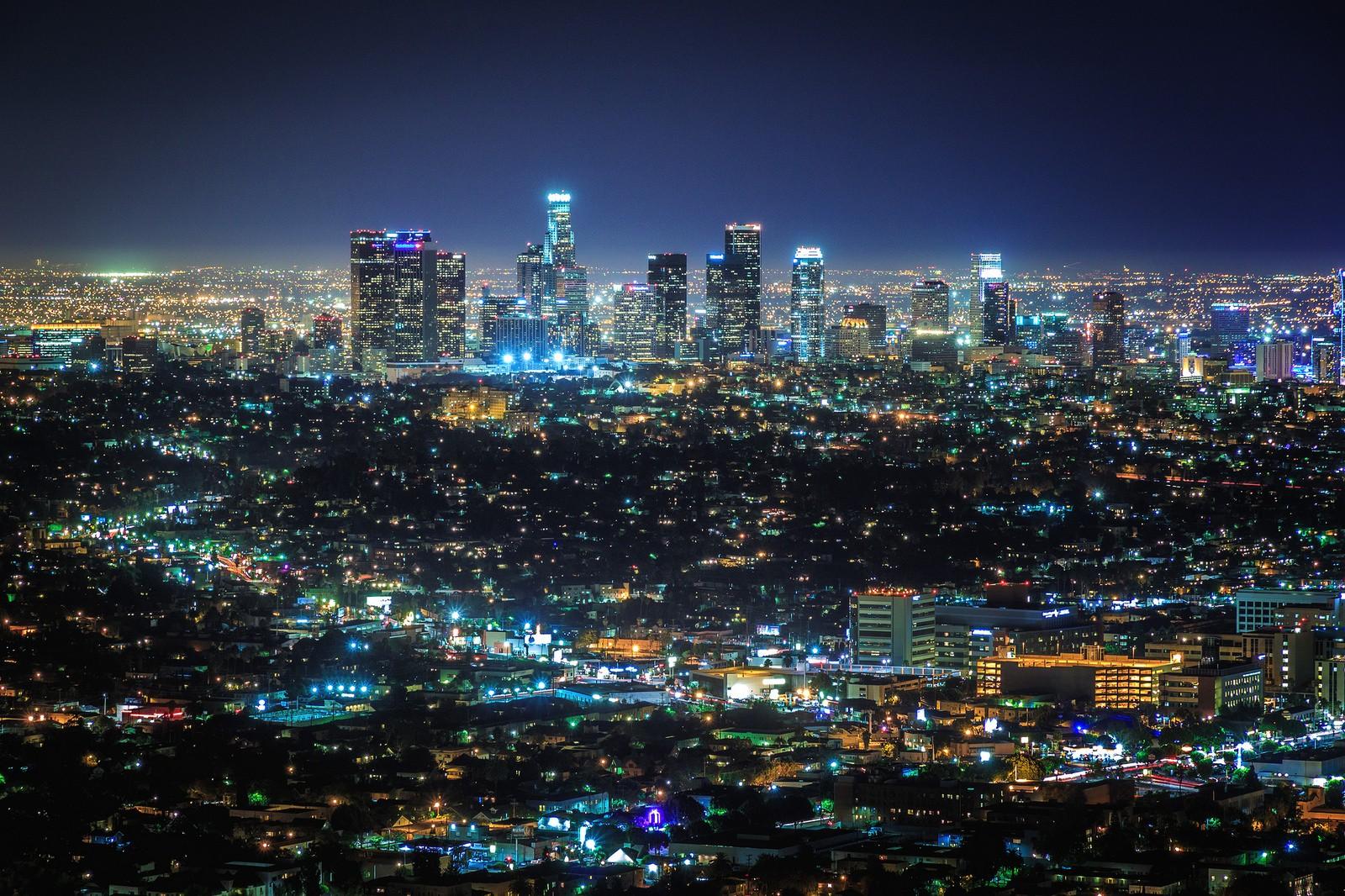 Masaüstü şehir Gece Los Angeles 1600x1066 Cmbn3 1352341