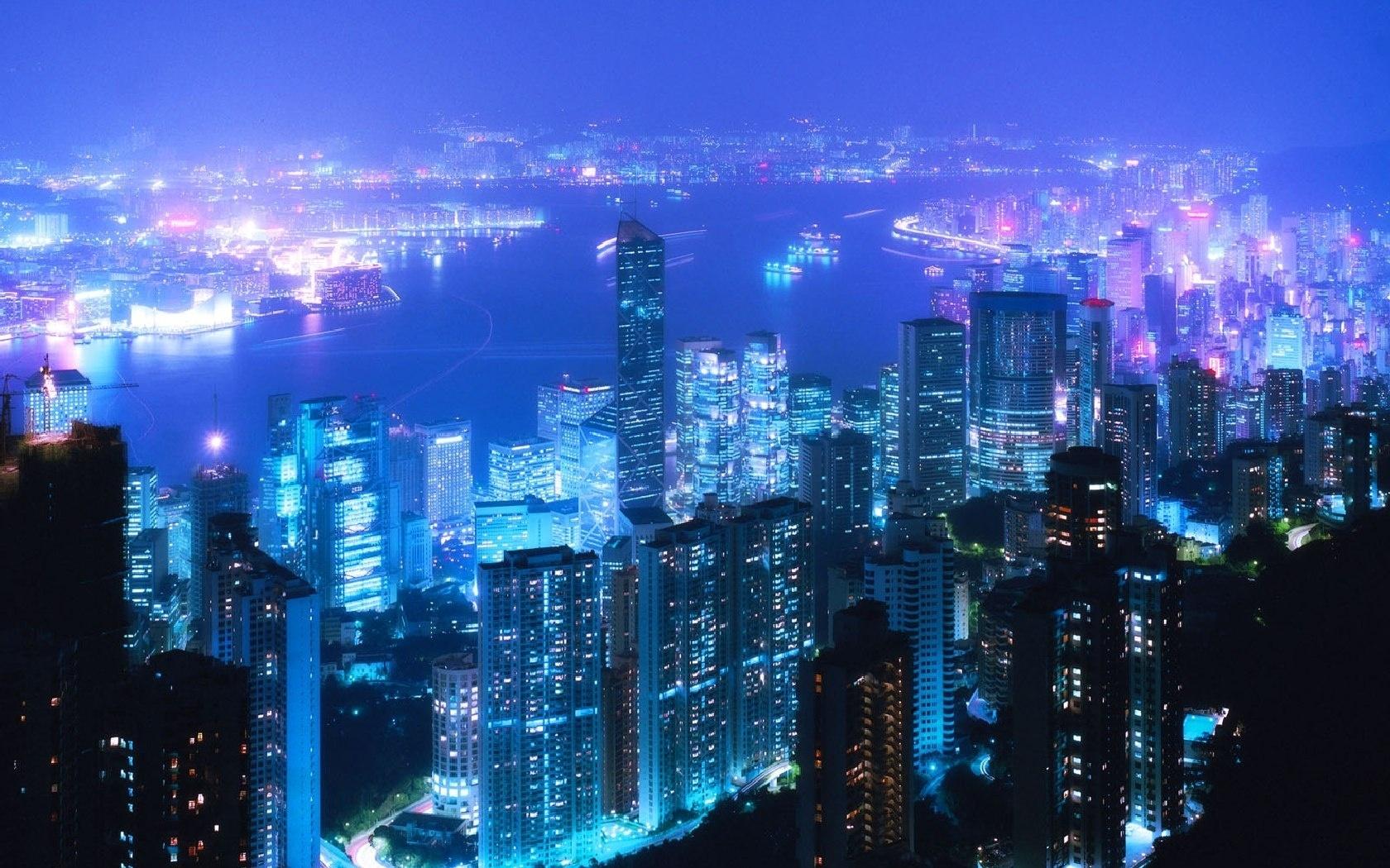 wallpaper : city, night, tokyo, lanterns, sky, homes 1680x1050