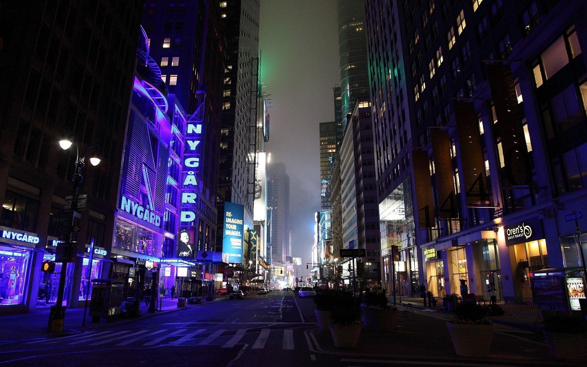 City Night Lights Street Movement Life