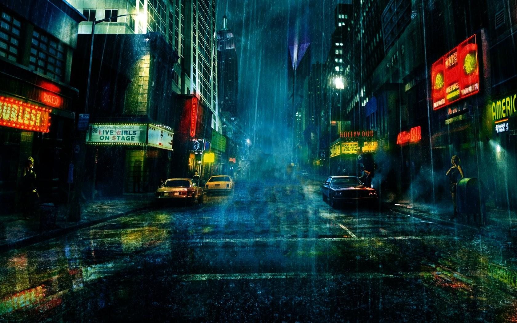 Rain City Wallpaper images of rain city wallpaper free - #sc