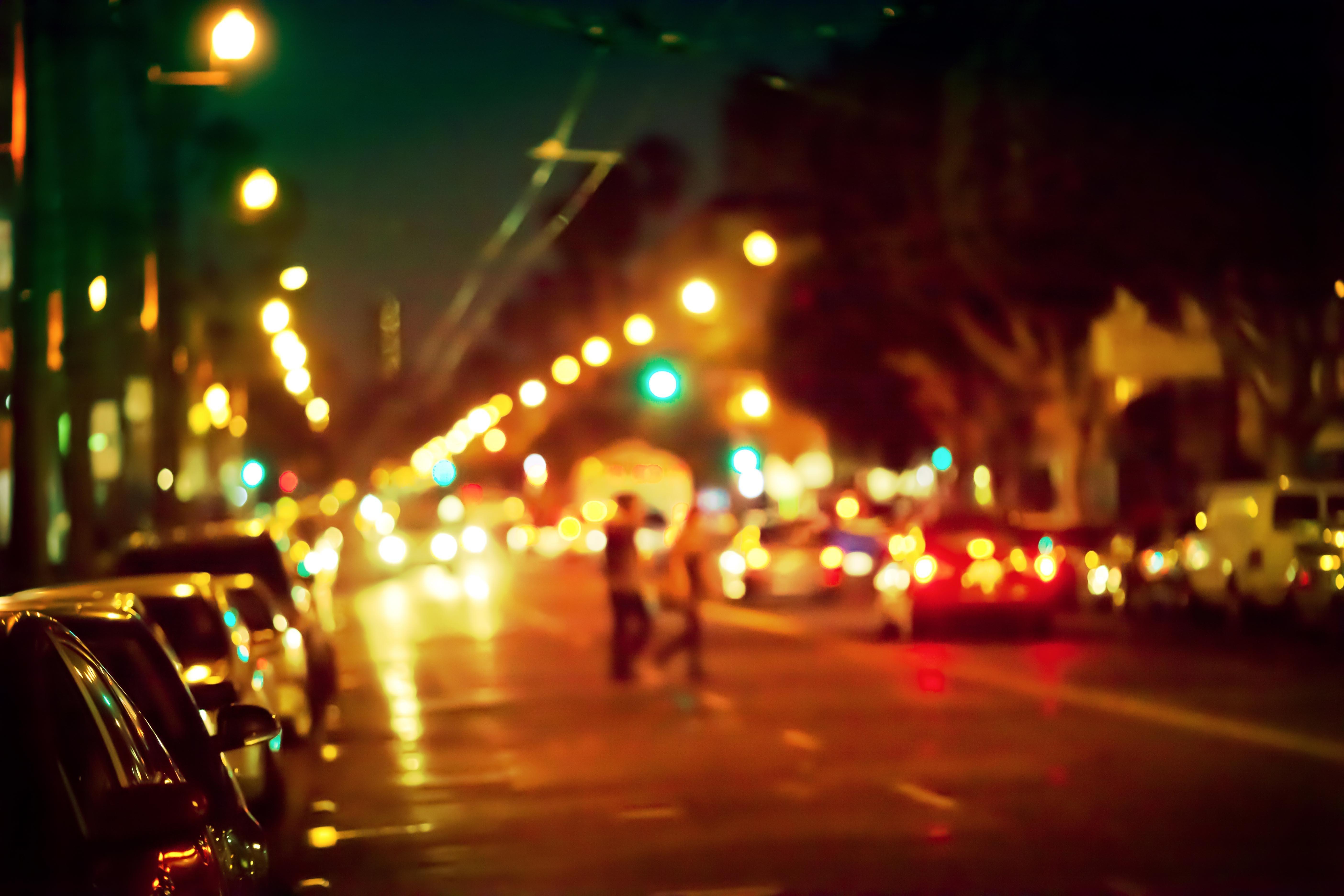 City Night Urban Road Evening Bokeh City Lights Christmas Lights Light  Lighting Darkness Crowd