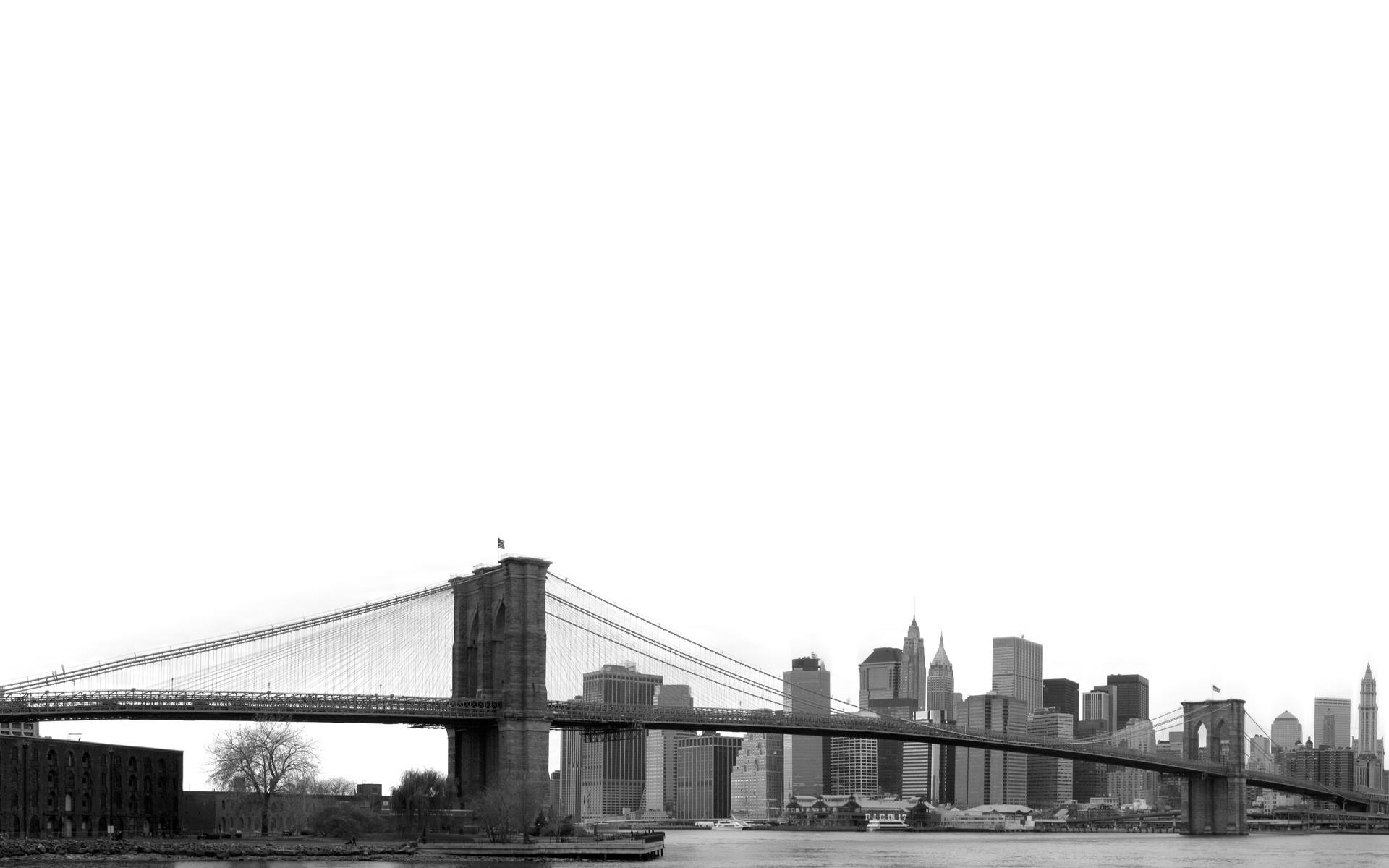 Wallpaper City Skyline Bridge Brooklyn Bridge New York City
