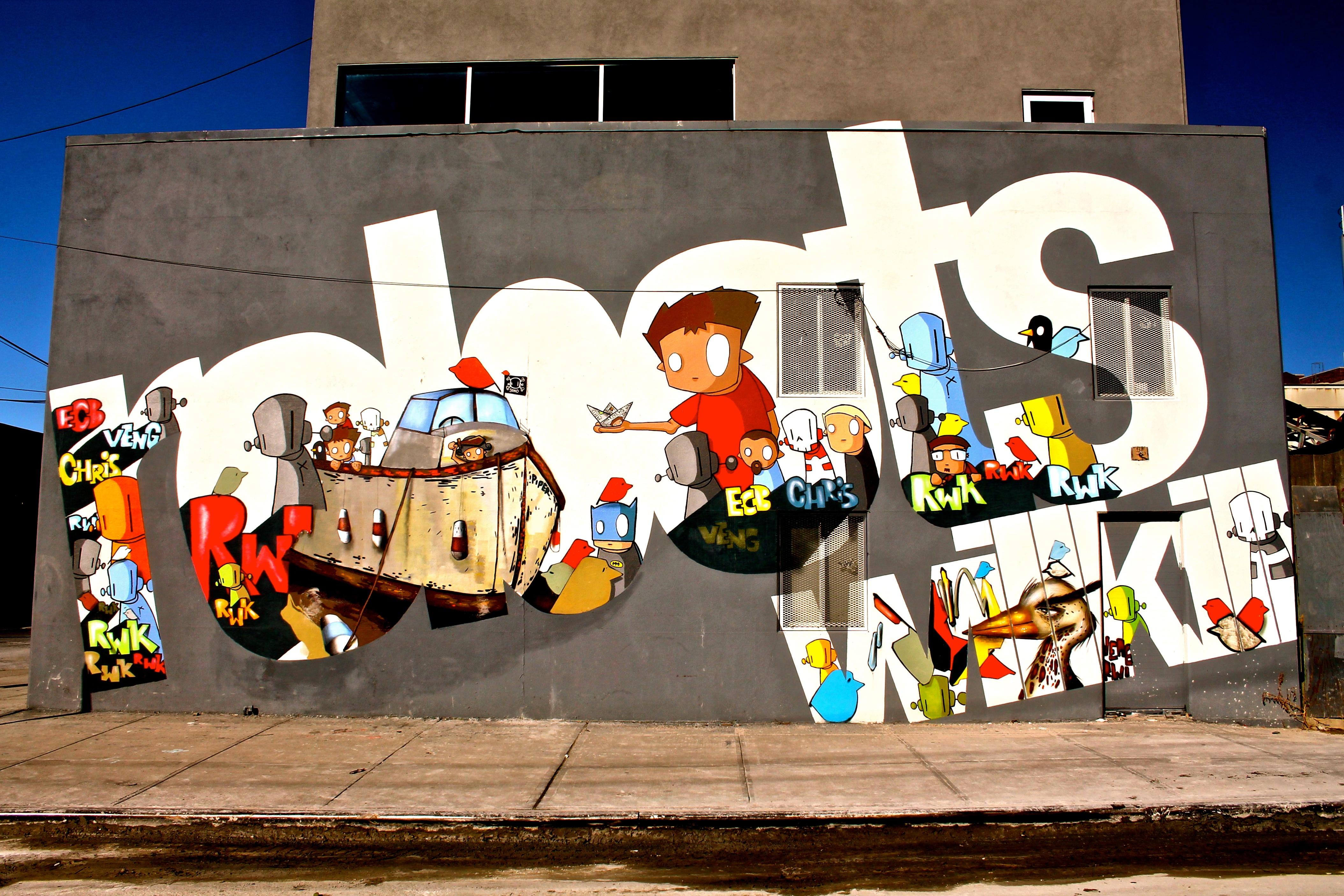 City Street Robot Wall Artwork Graffiti Art Mural York ART New Streetart Nyc Recreation Bushwick