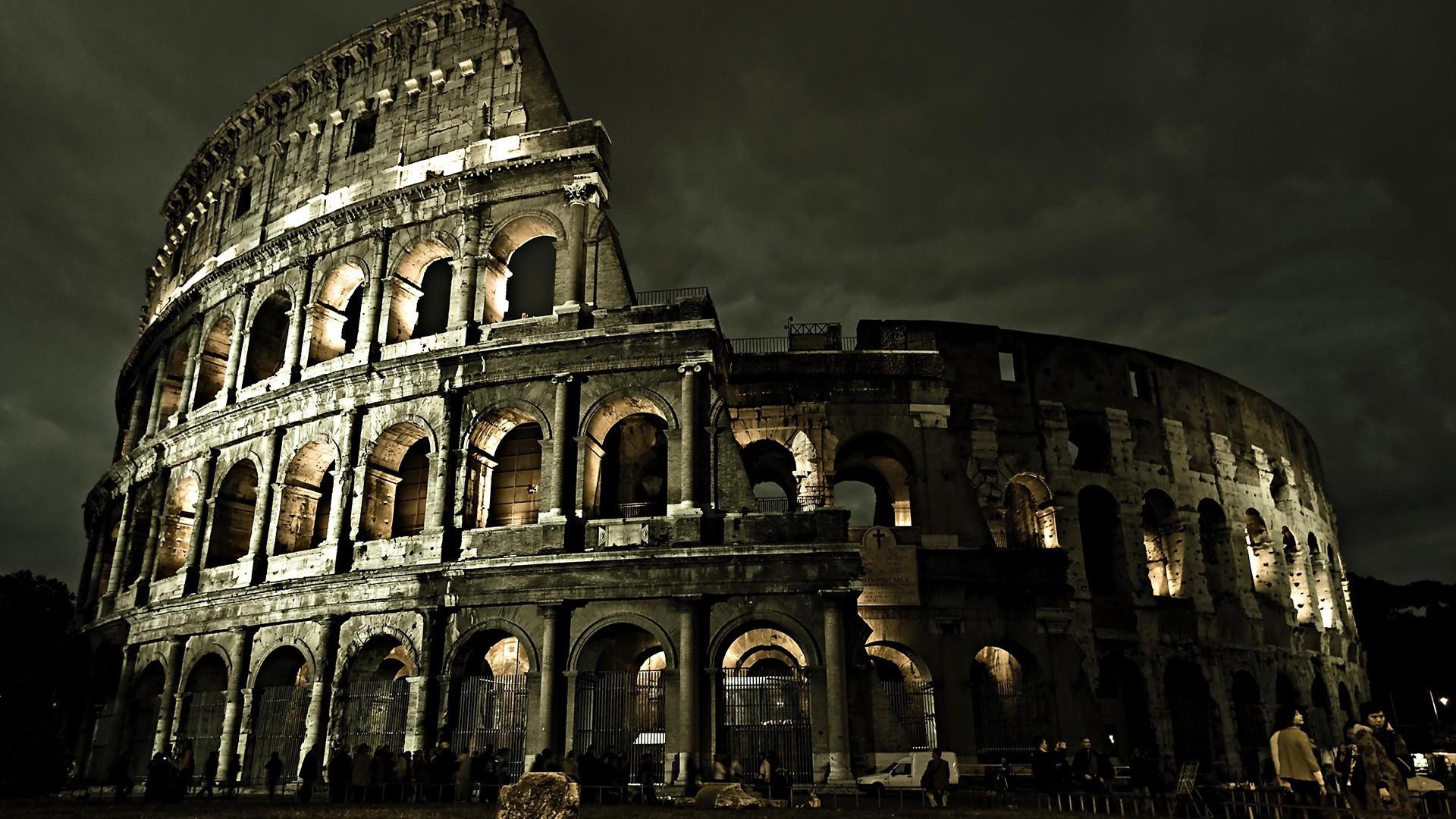 Wallpaper Cityscape Night Architecture Evening Rome