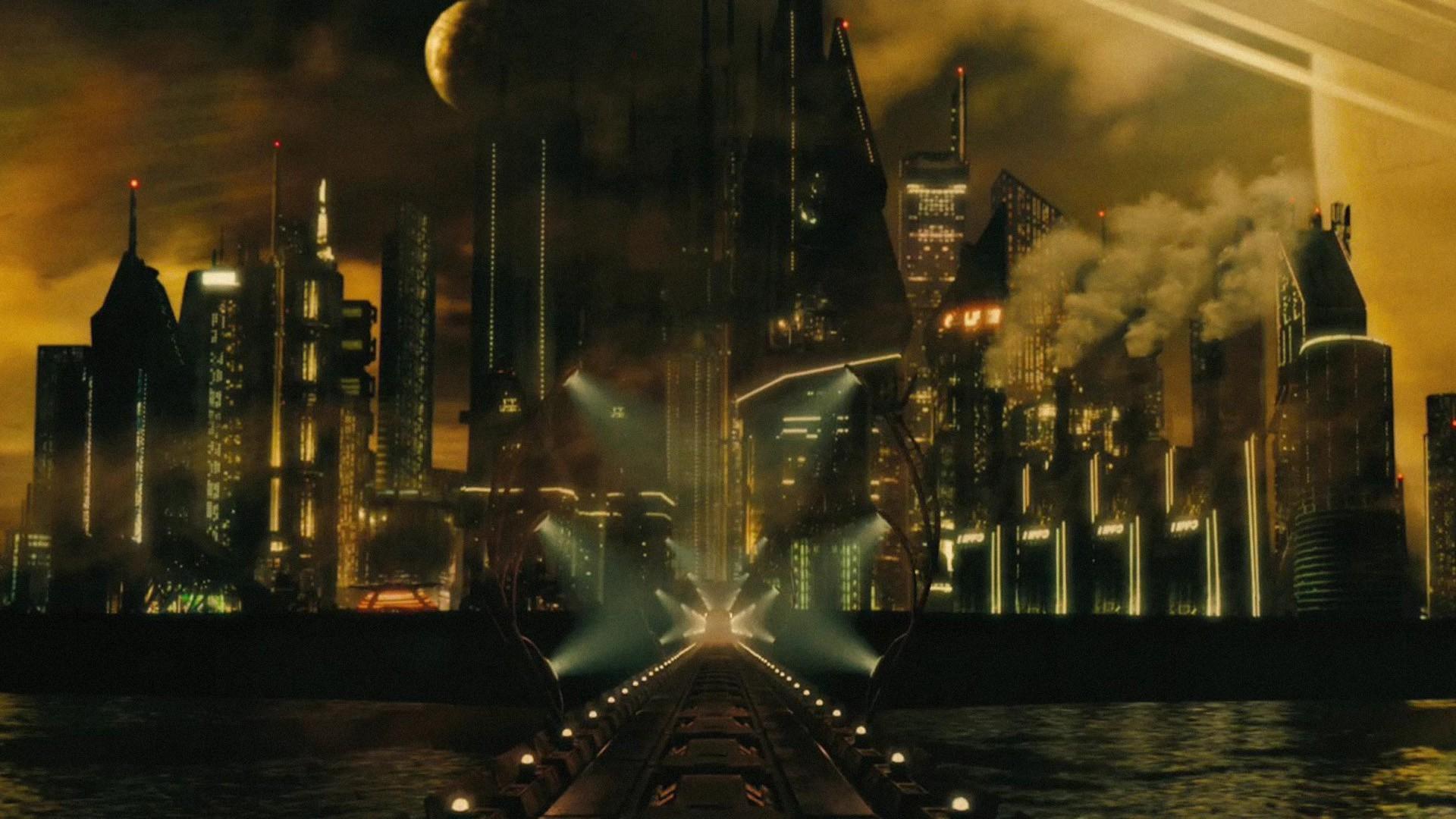 Wallpaper Cityscape Night Reflection Movies Skyscraper